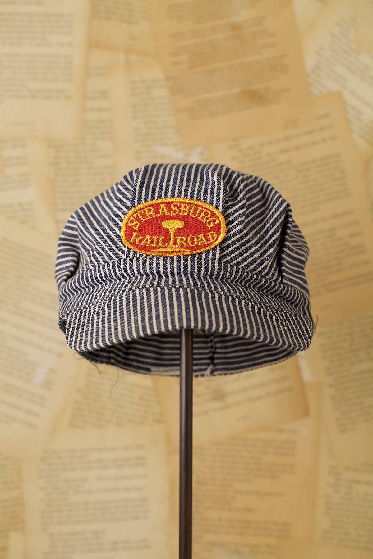 Vintage Hickory Striped Hat Oval