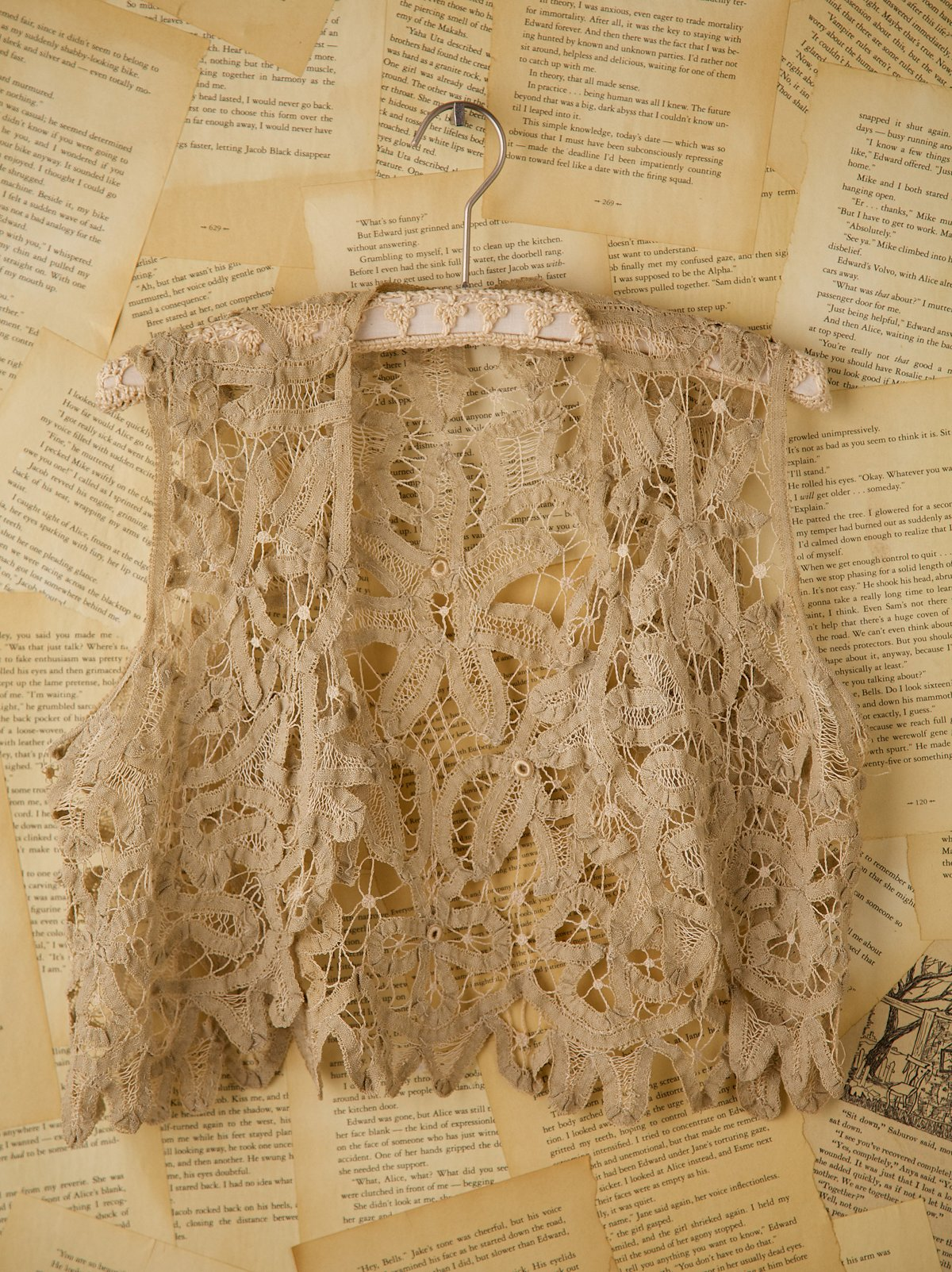 Vintage Tan Lace Vest