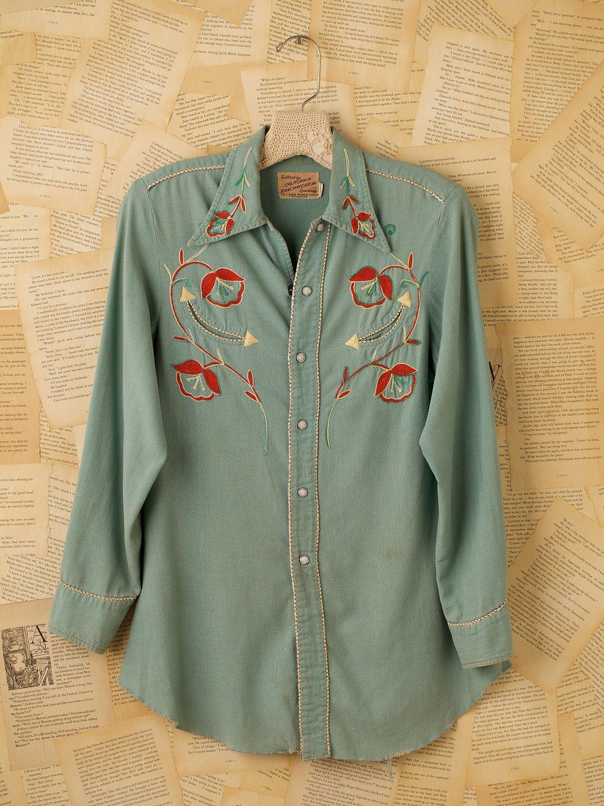 Vintage Embroidered Western Shirt