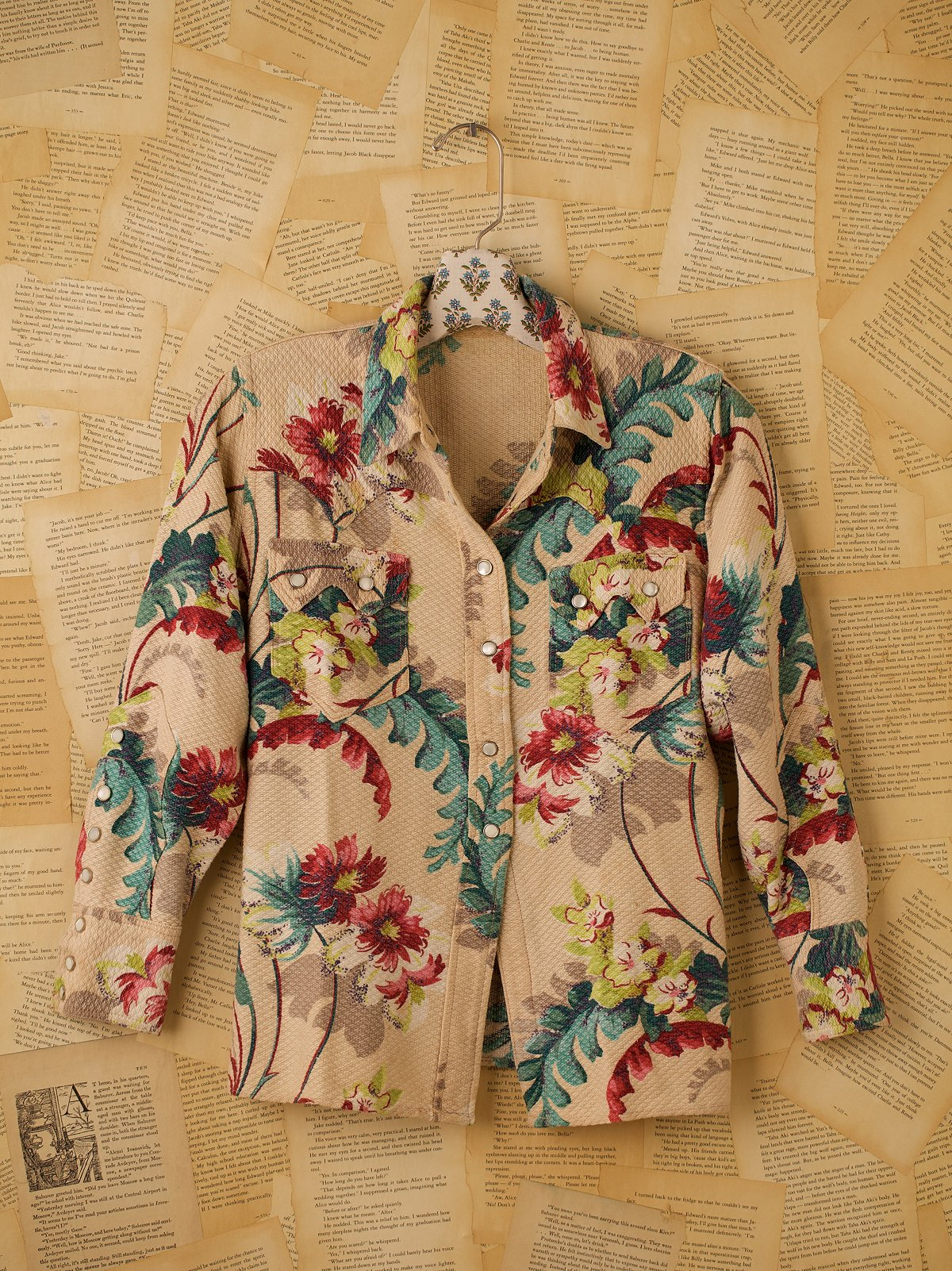 Vintage Long Sleeve Floral Western Shirt