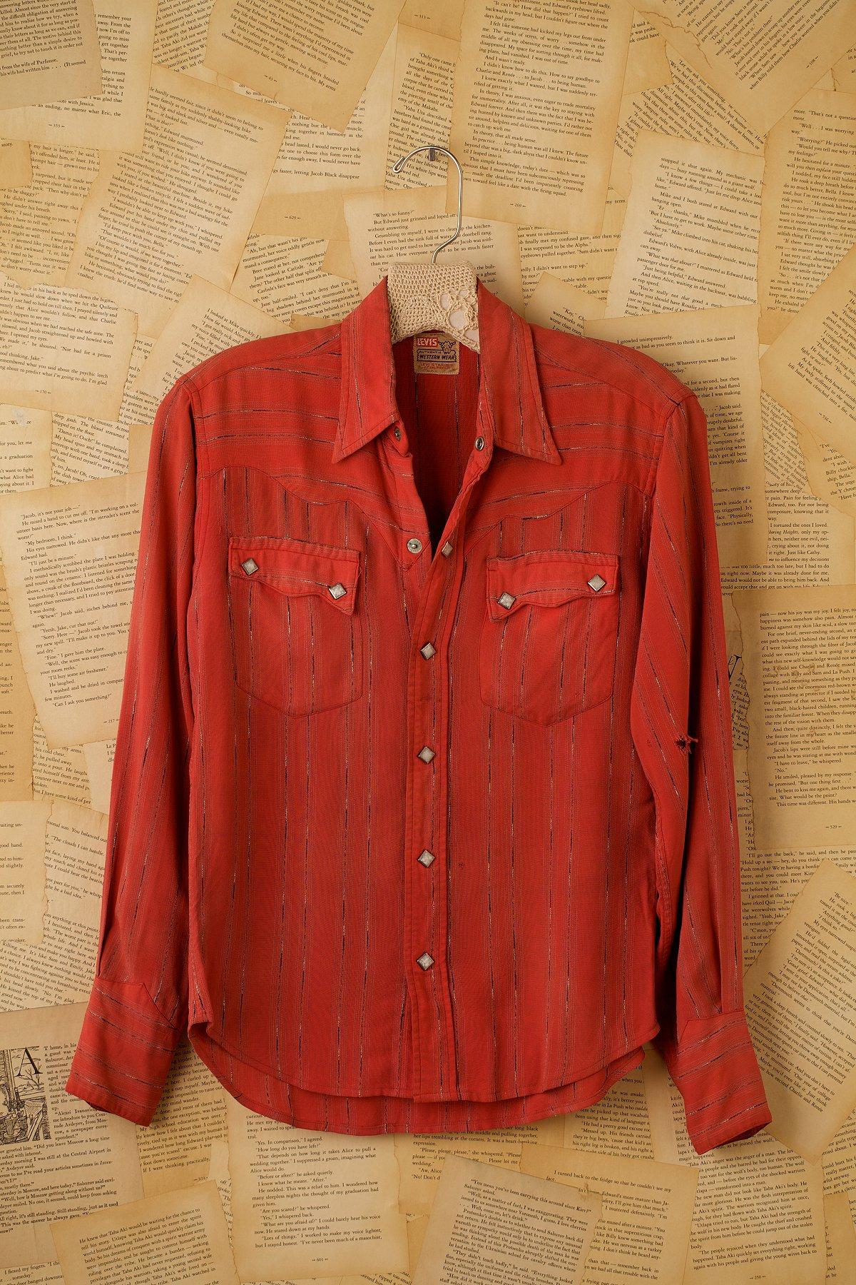 Vintage Long Sleeve Striped Western Shirt