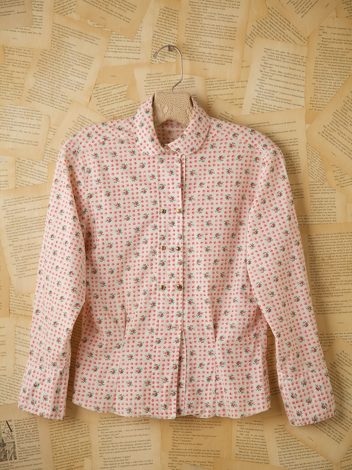 Long Sleeve Cotton Floral Button Down