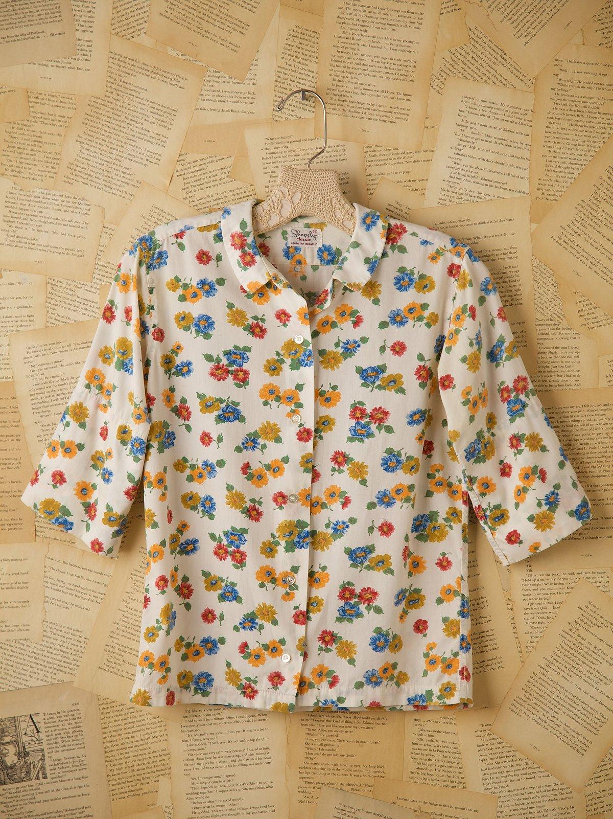 Vintage Cotton Floral Button Down