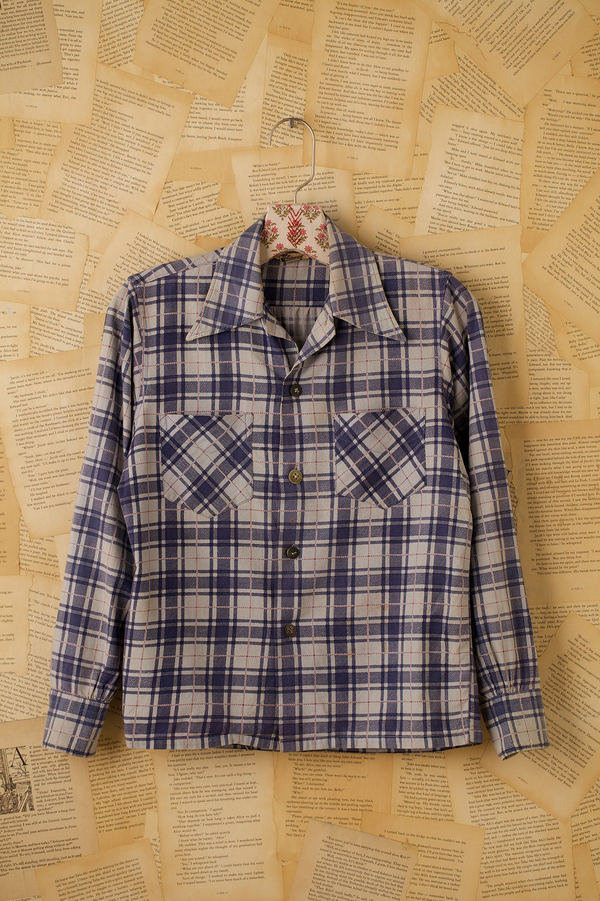 Vintage Long Sleeve Plaid Button Down