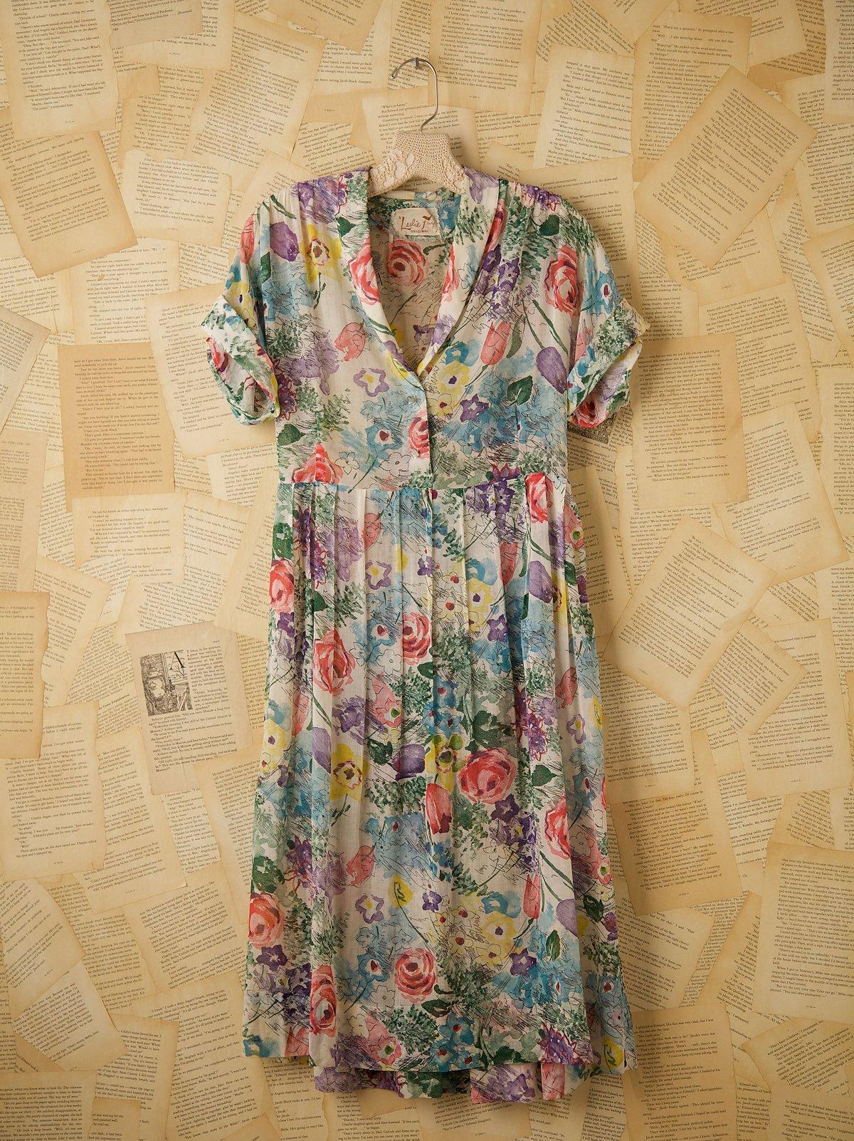 Vintage 1920s/30s Cotton Print Dress