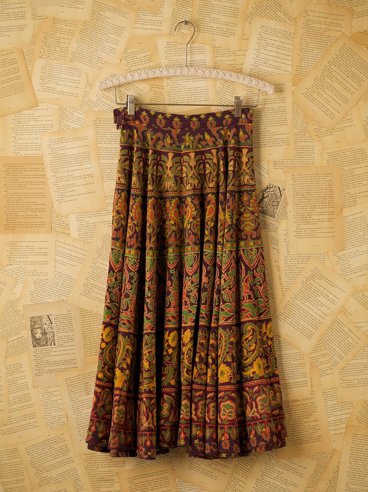 Vintage Cotton Indian Skirt