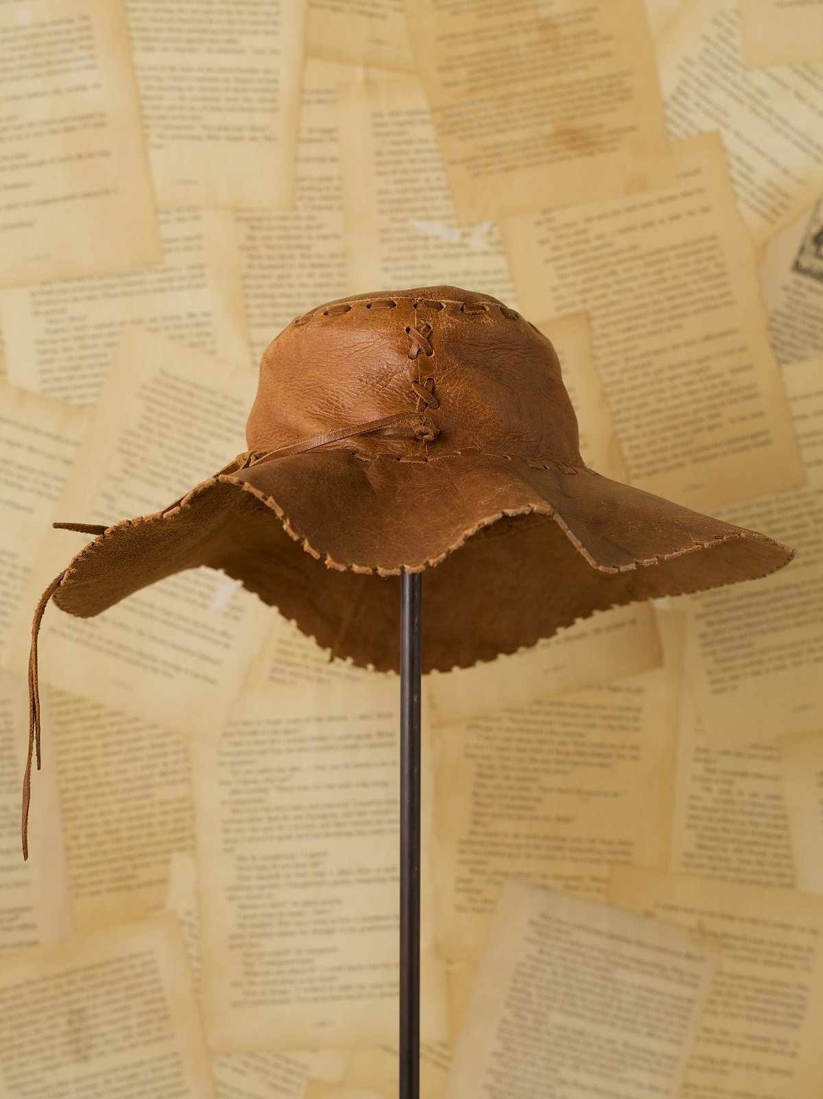Vintage Leather Sun Hat