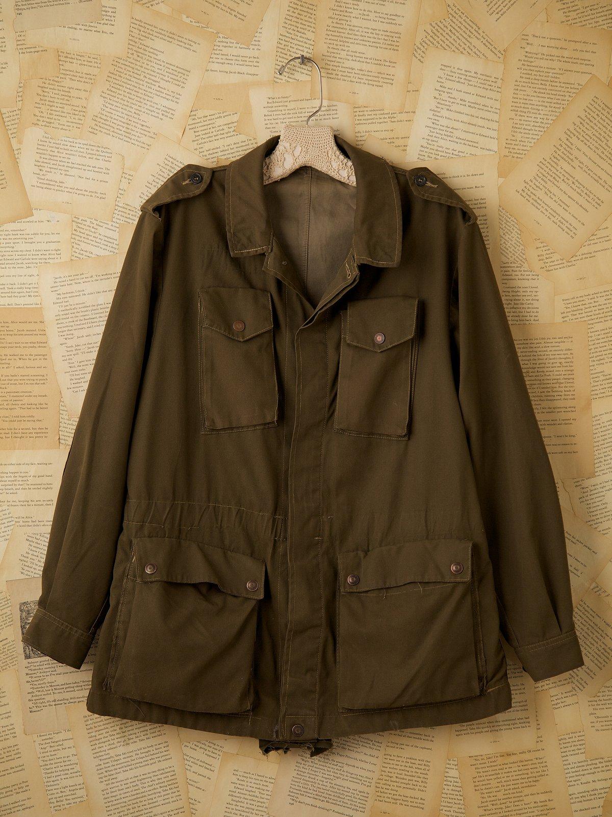 Vintage Green Italian Military Jacket