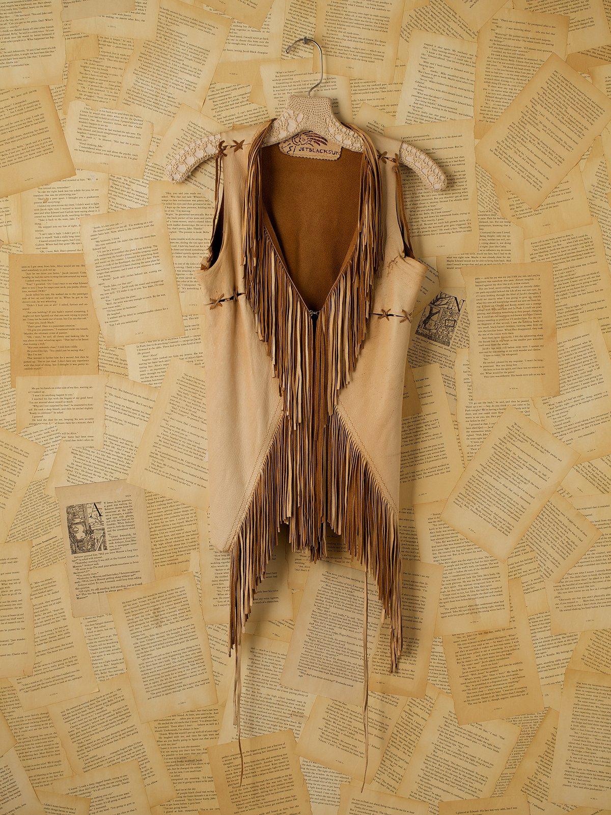 Vintage American Indian Fringe Vest
