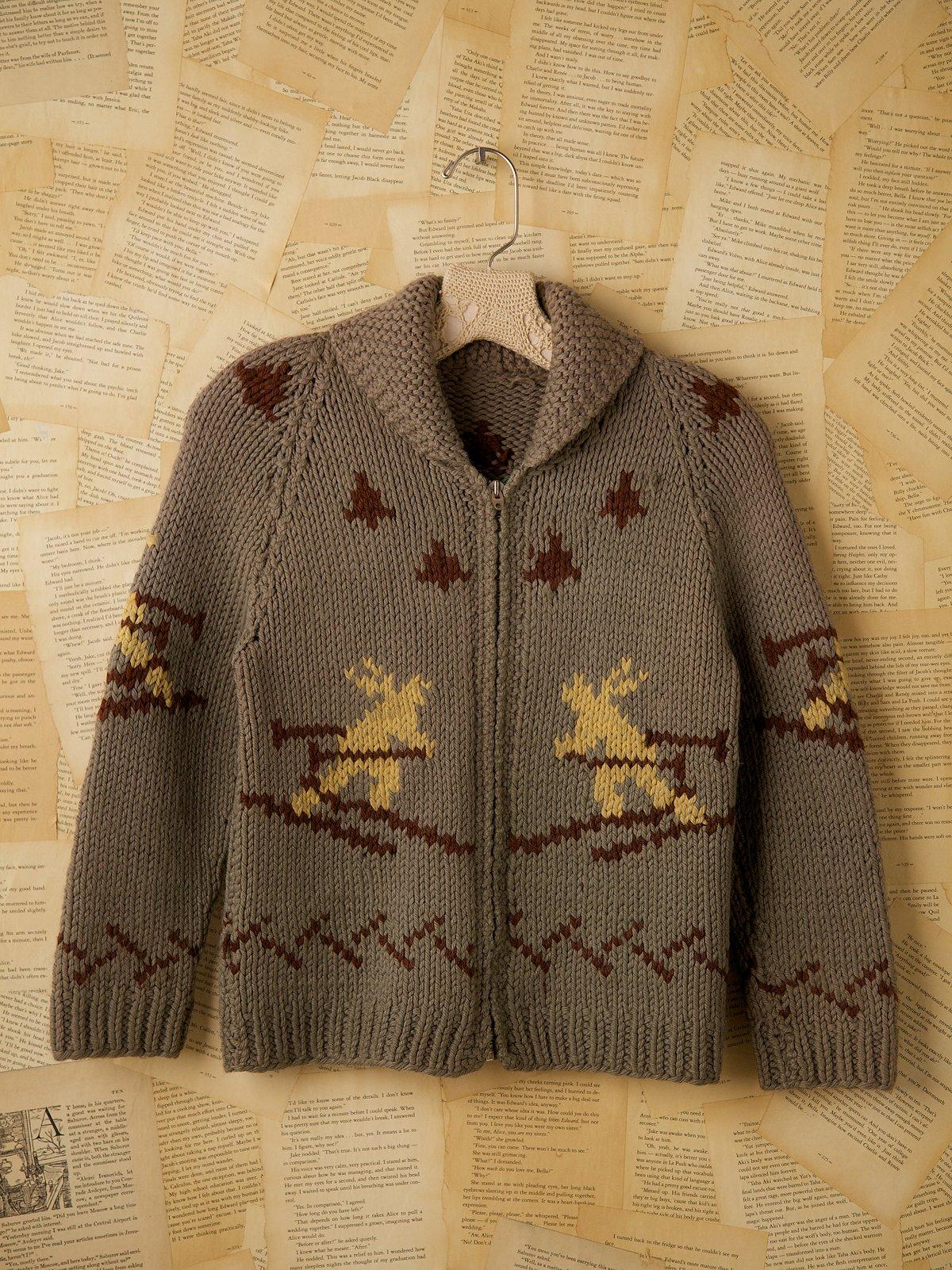Vintage Knit Ski Sweater
