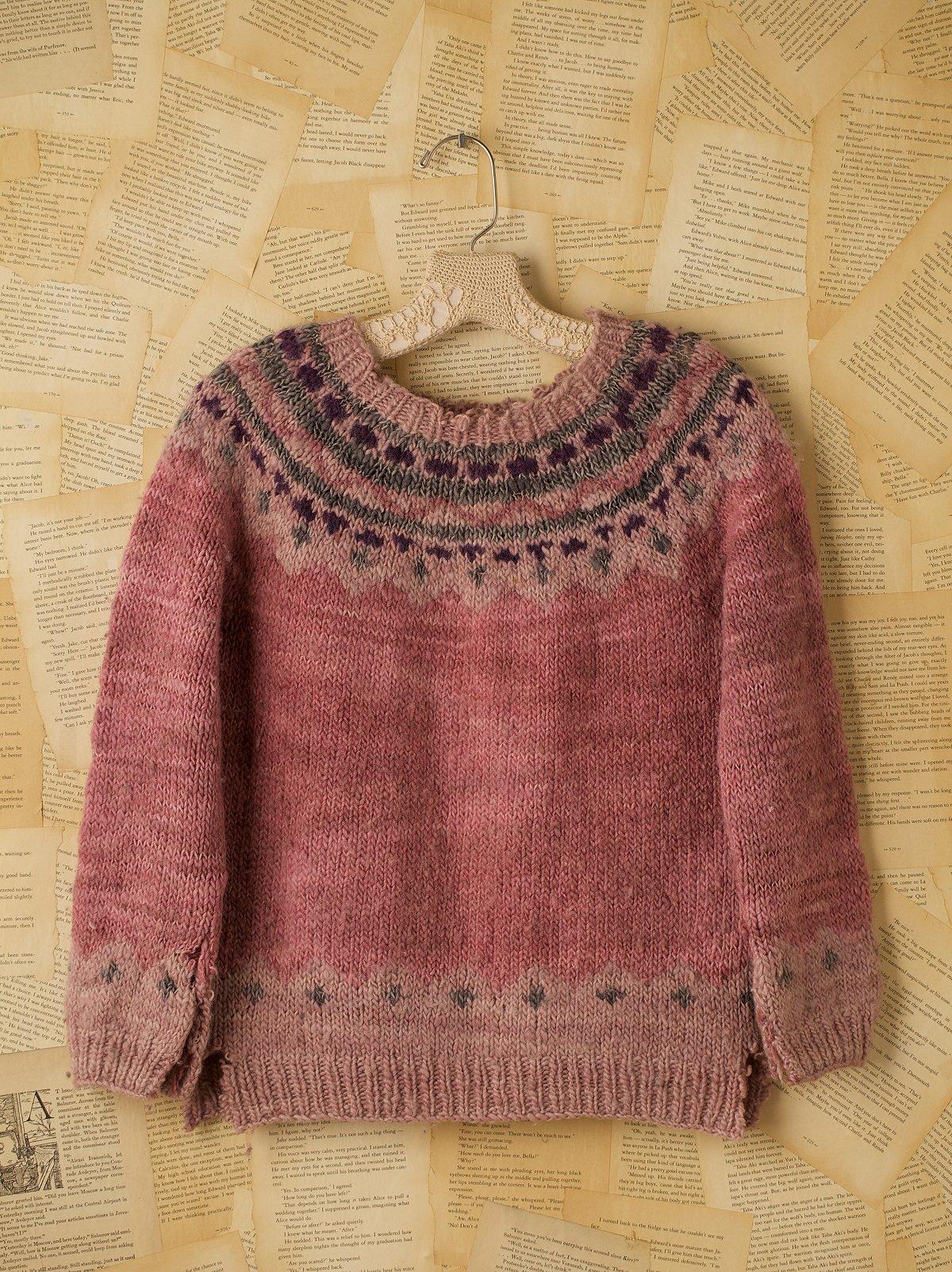 Vintage Pink Fair Isle Sweater
