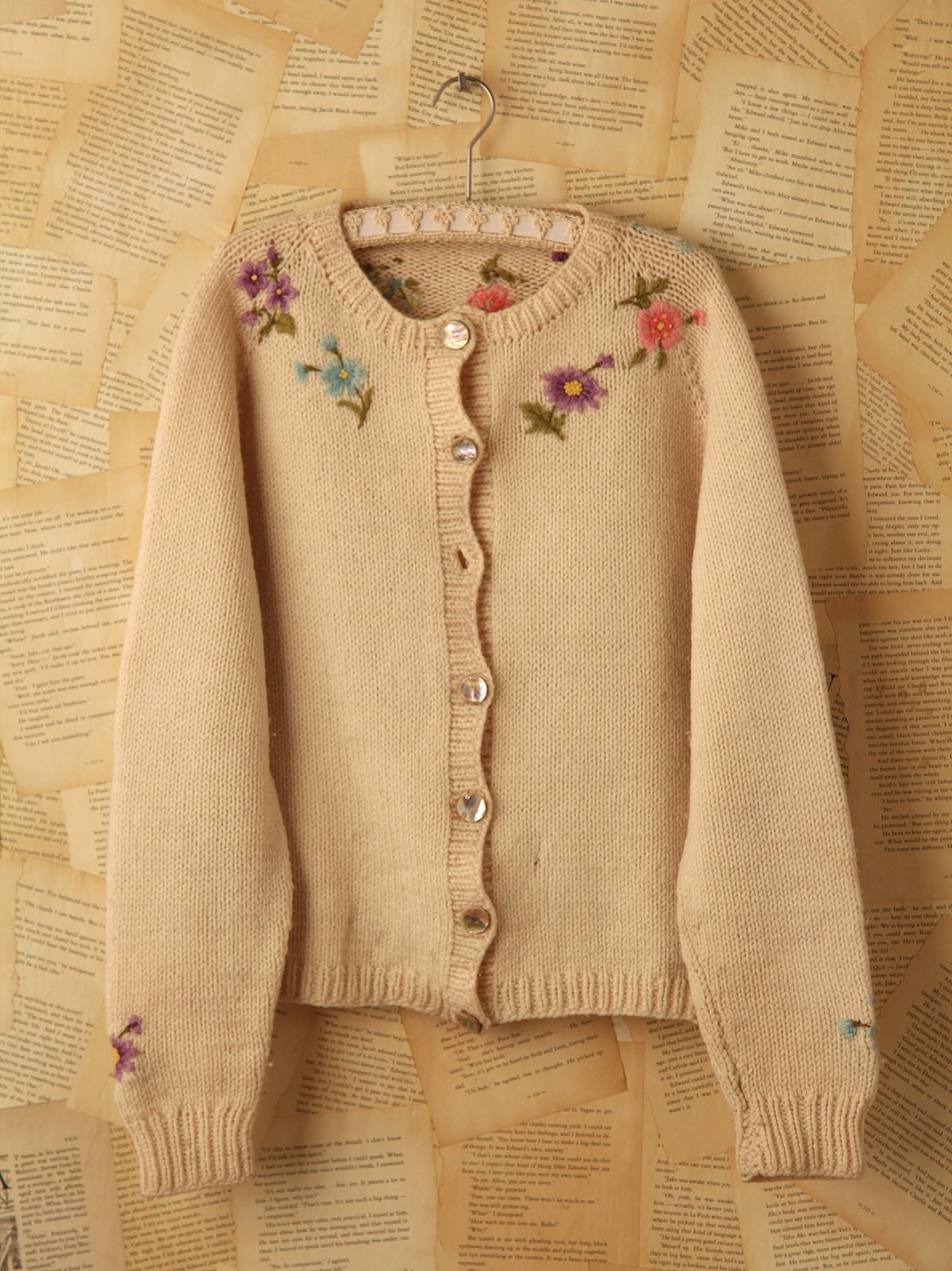 Vintage Embroidered Knit Cardigan