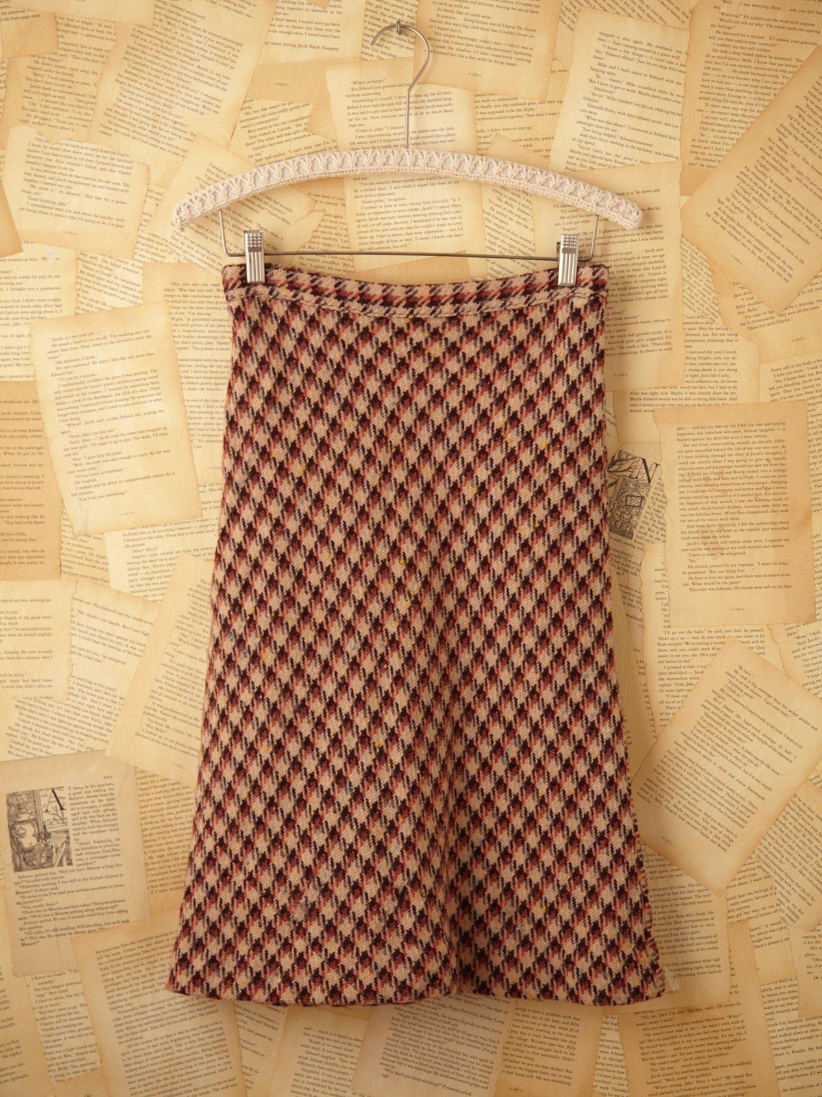 Vintage Tweed Bias Cut Skirt