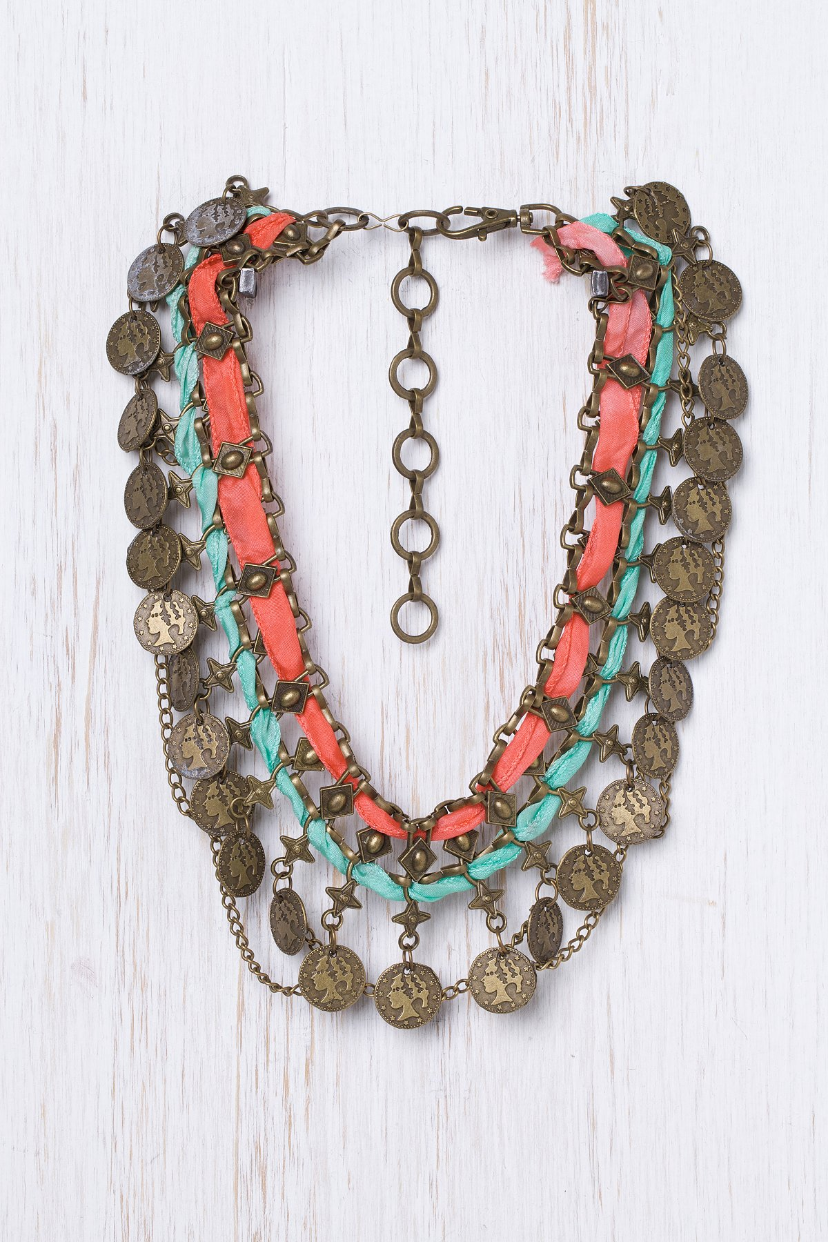 Traded Treasure Bib Necklace