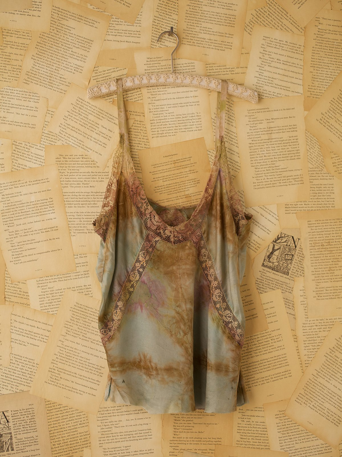 Vintage Silk Charmeuse Tie Dye Slip Top