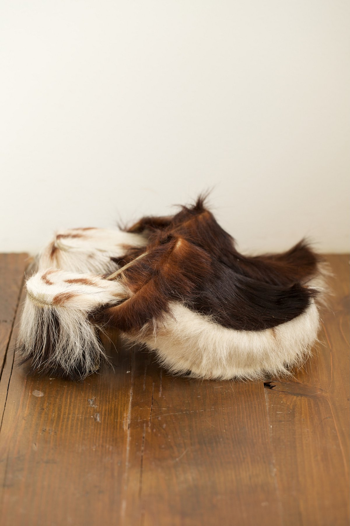 Vintage Recycled Brown and White Cow Clogs