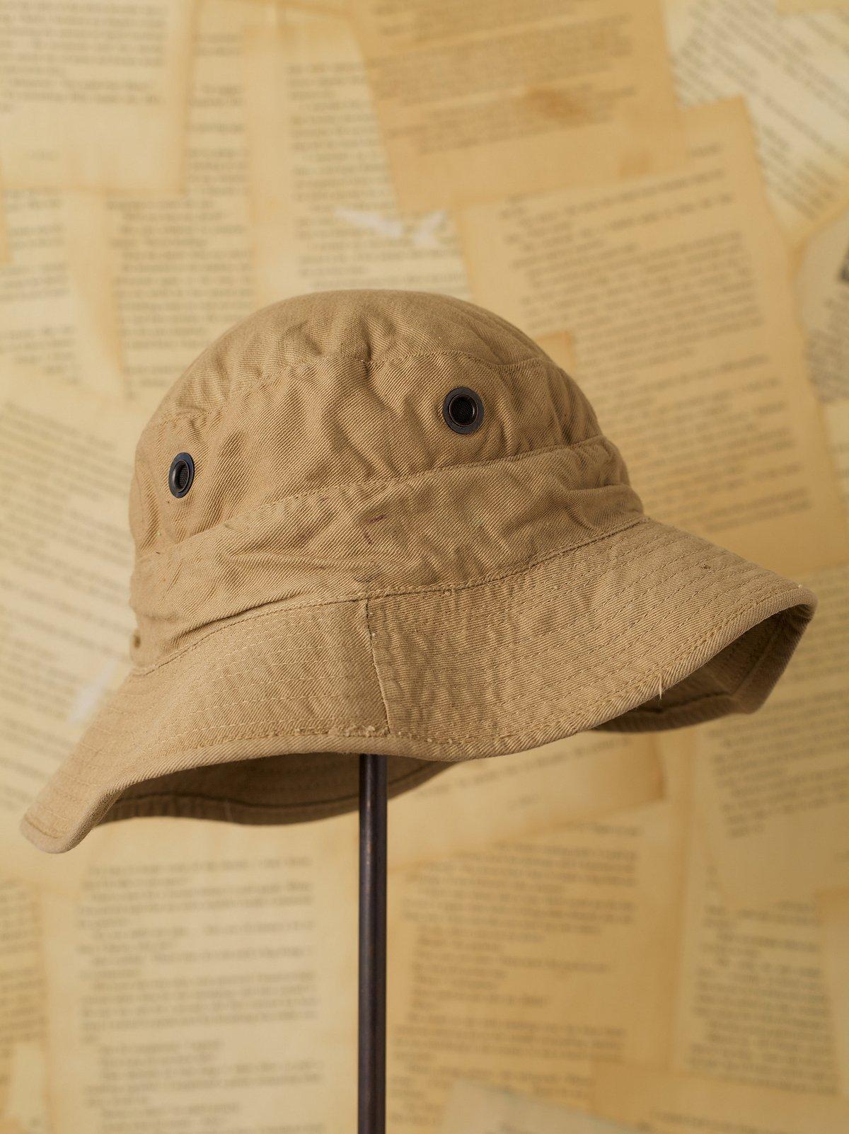 Vintage Khaki Military Bucket Hat