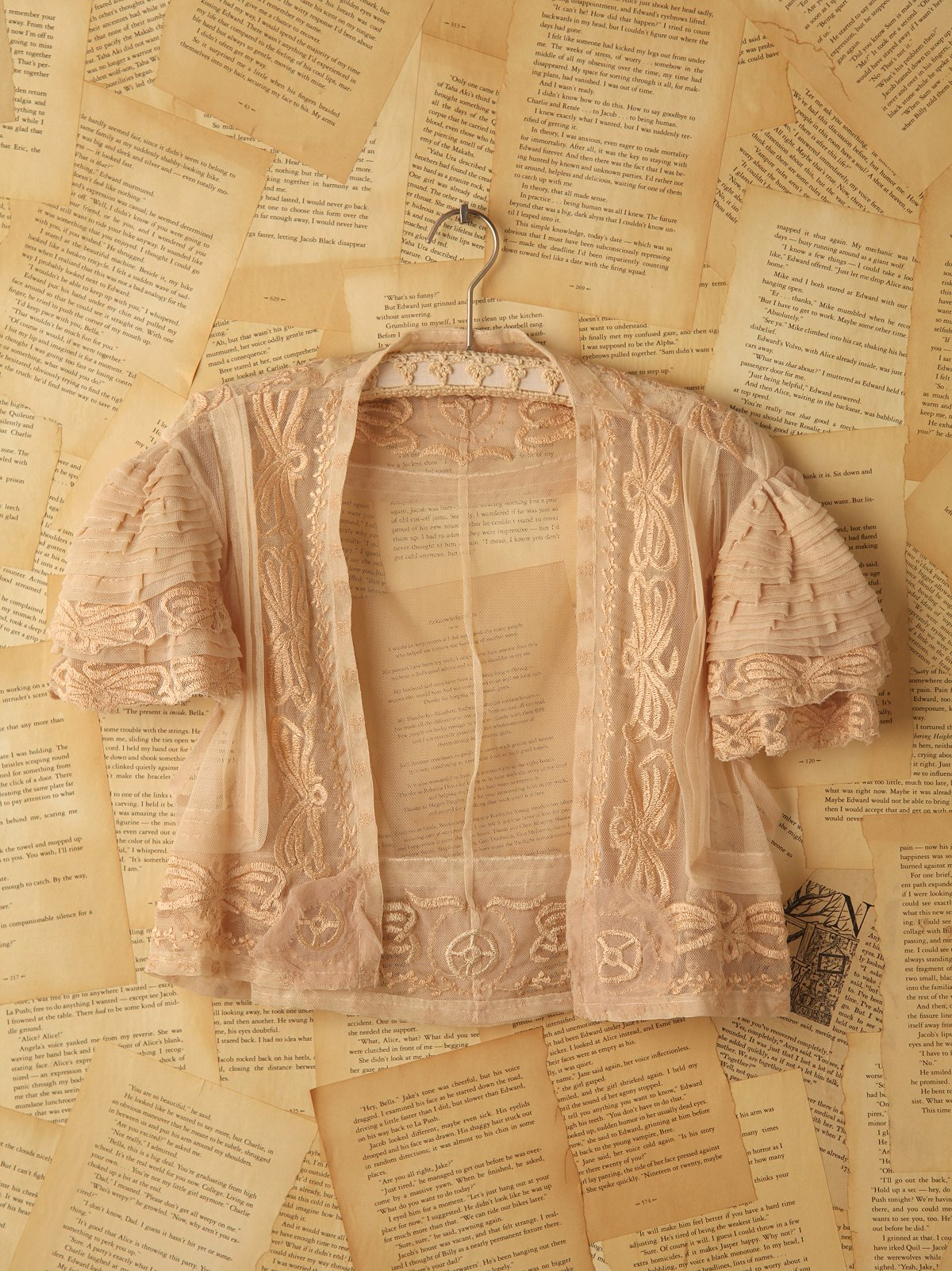 Vintage Net Lace Embroidered Blouse