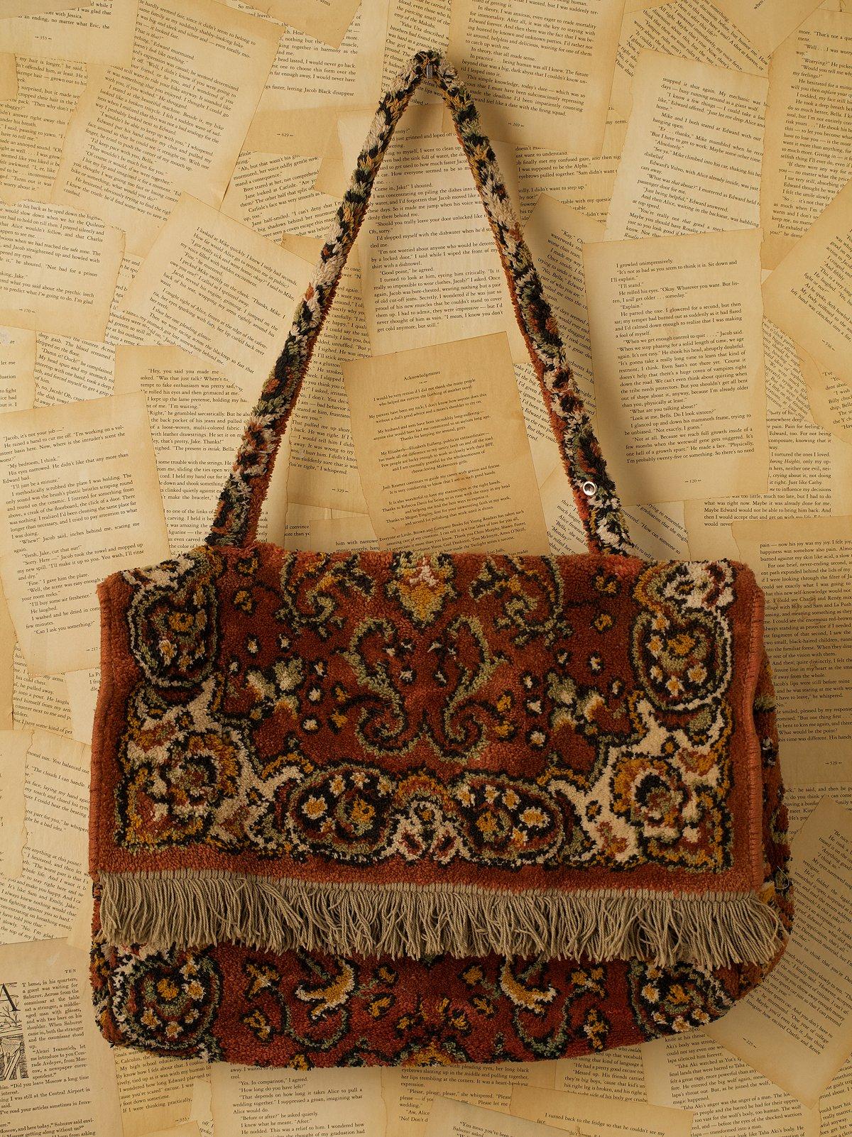 Vintage Orange Carpet Messenger Bag