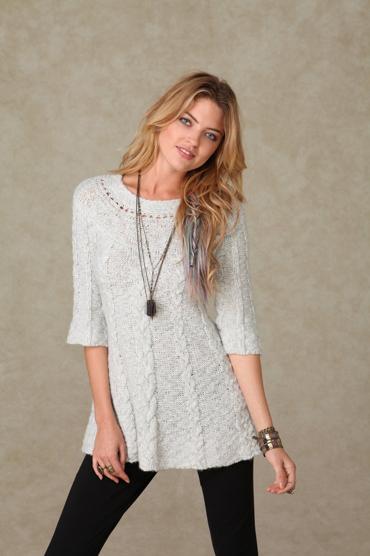 Cabled in Rows Tunic
