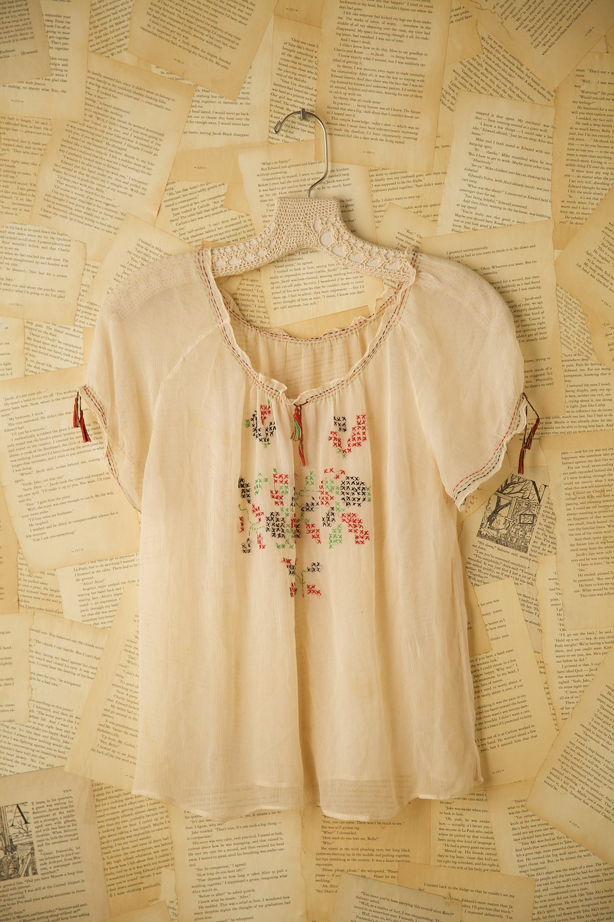 Vintage Short Sleeve Tunic with Embroidery