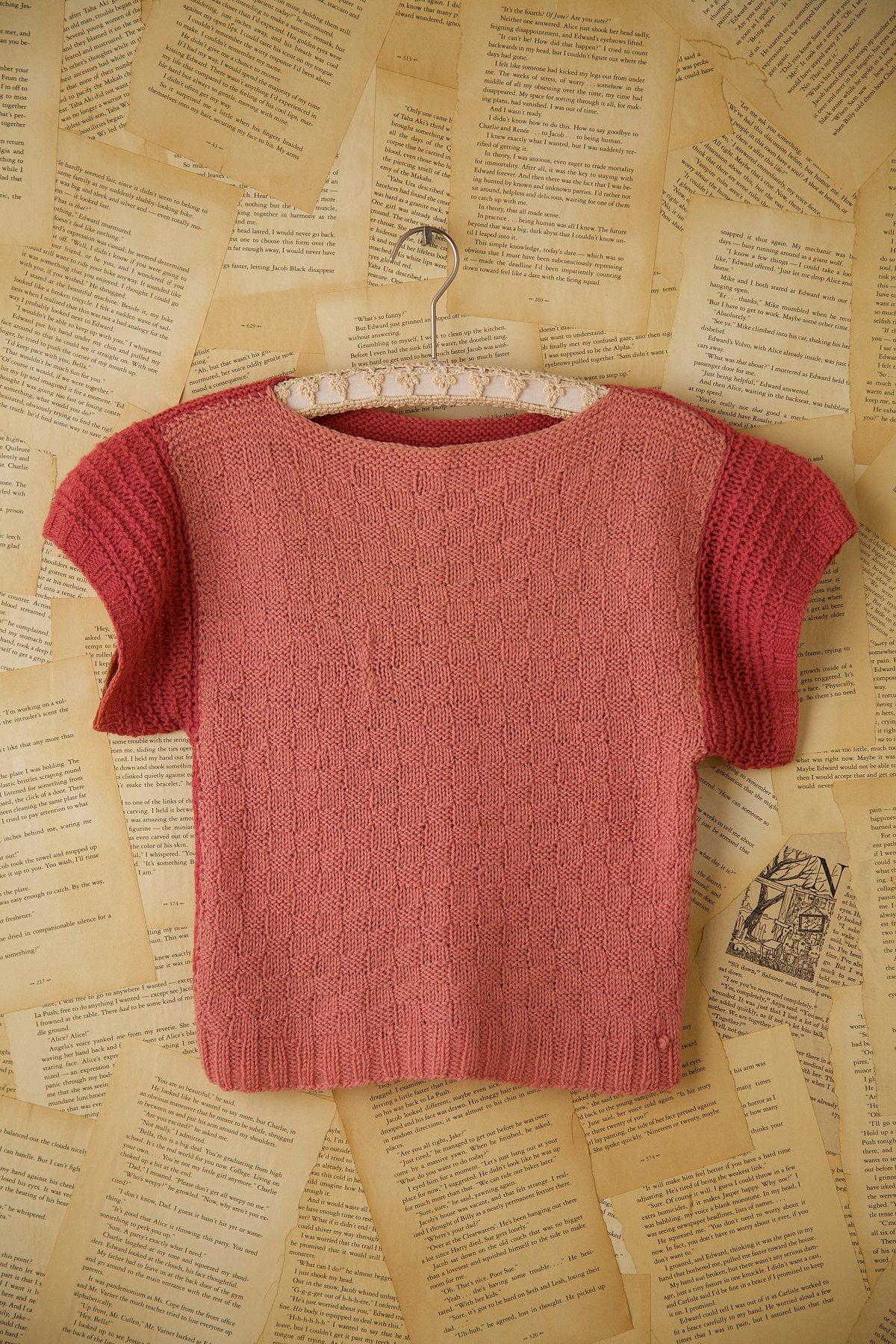Vintage Hand Knit Short Sleeve Sweater