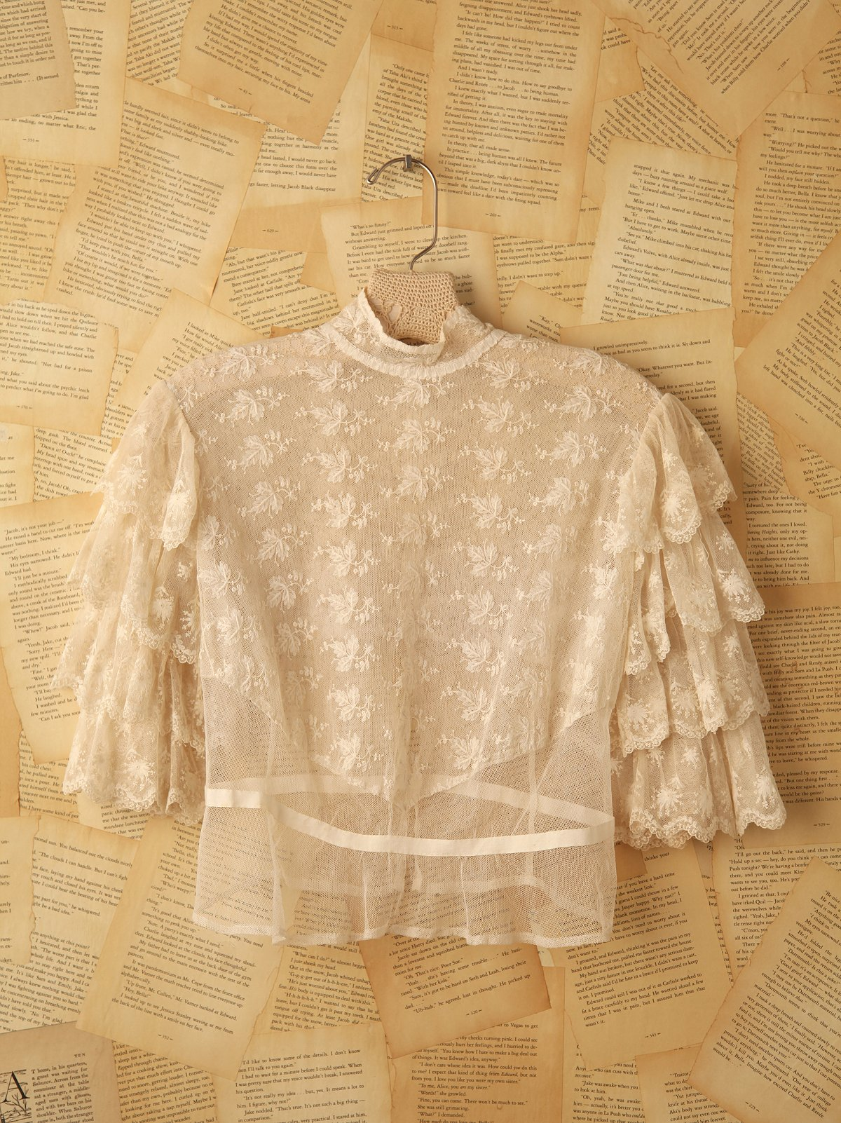 Vintage Lace Bodice Top