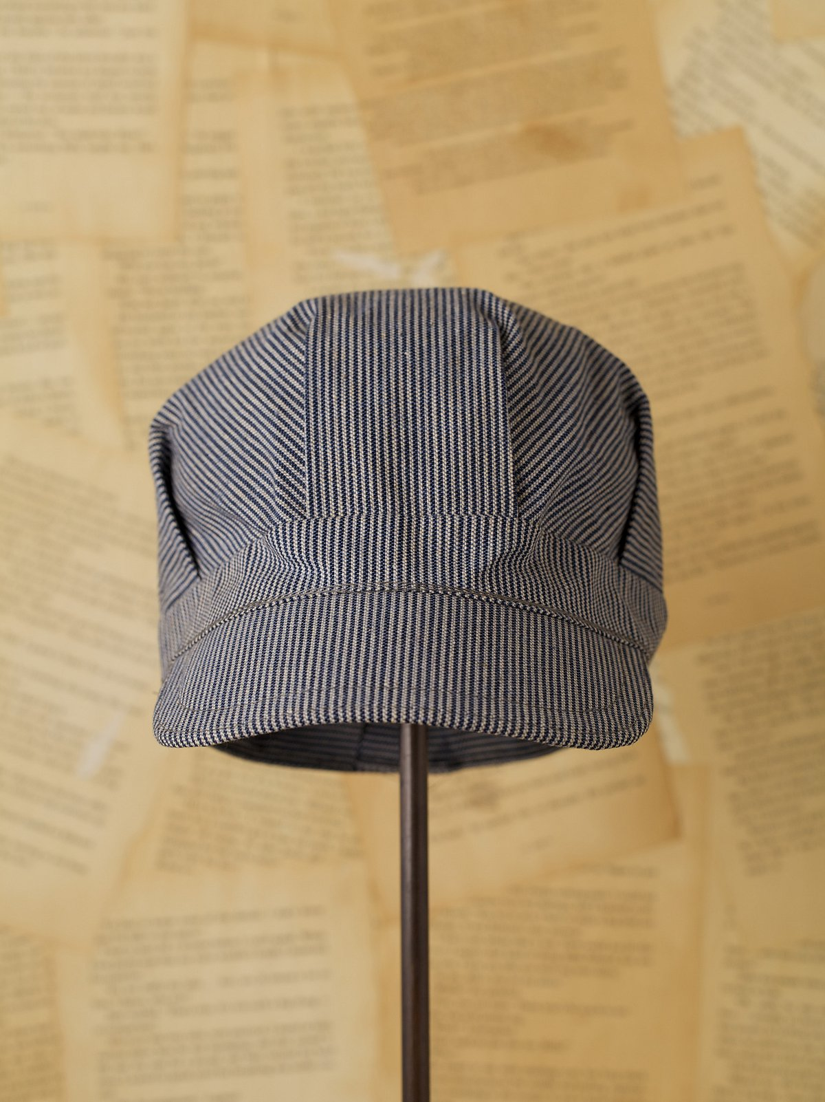 Vintage Hickory Striped Engineer Hat