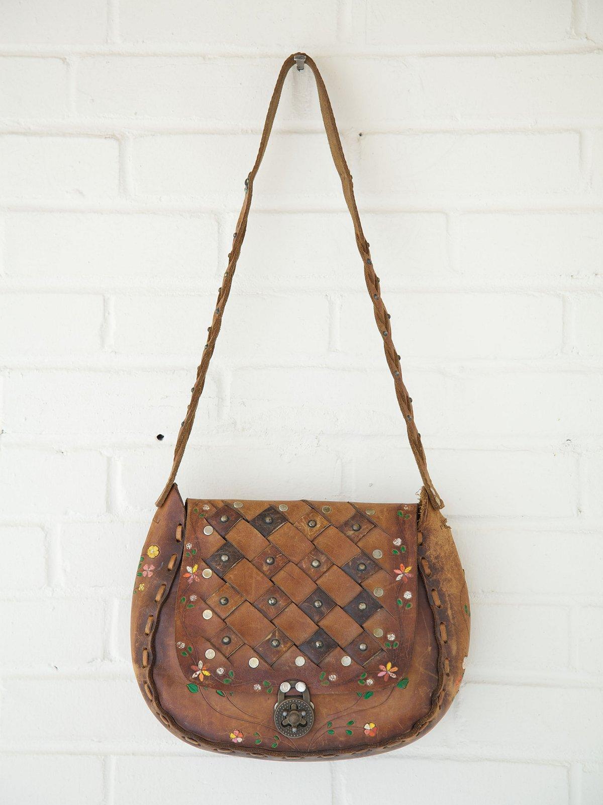 Vintage Weave Embossed Boho Bag