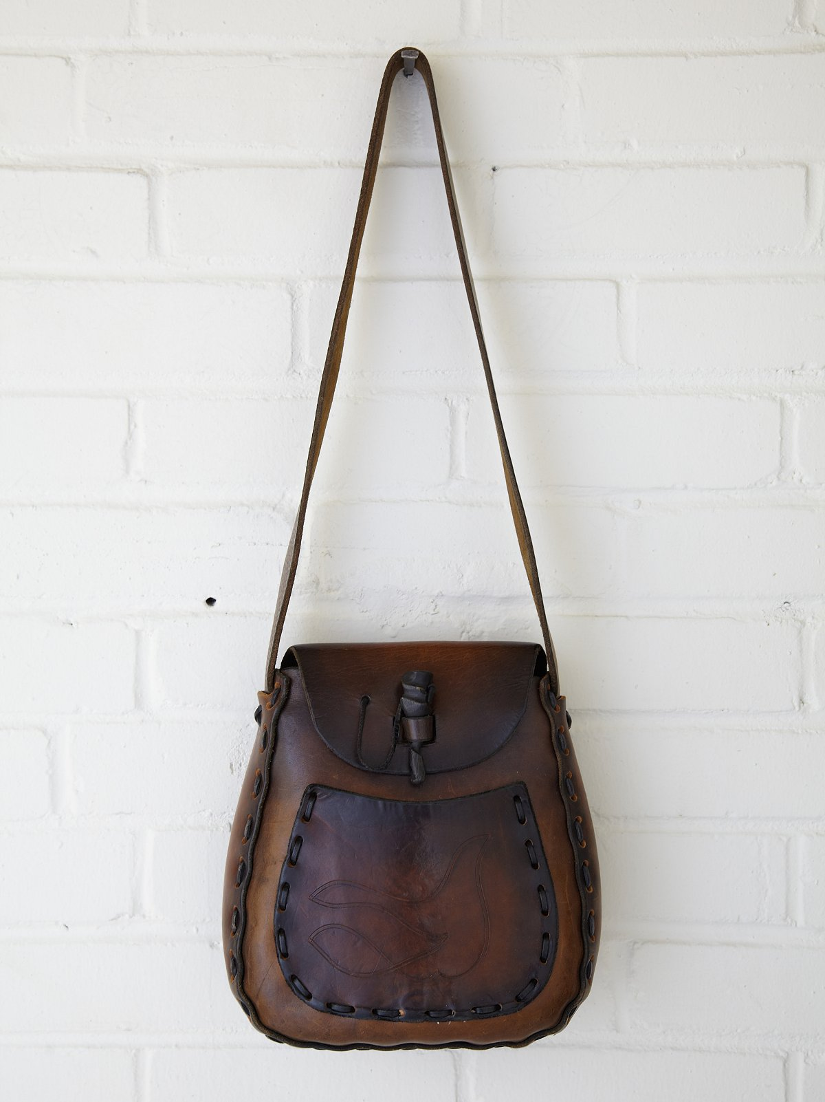 Vintage Whipstitch Dove Boho Bag