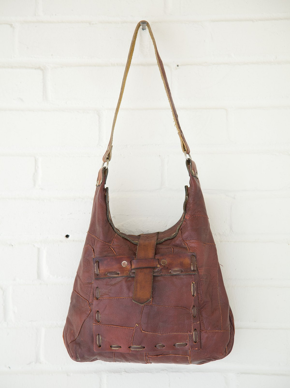 Vintage Whipstitched Pocket Patch Shoulder Bag