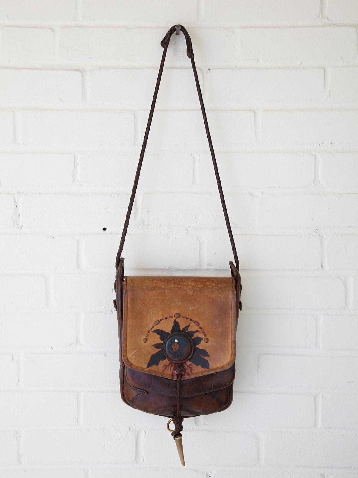 Vintage Man Moon Crossbody Bag