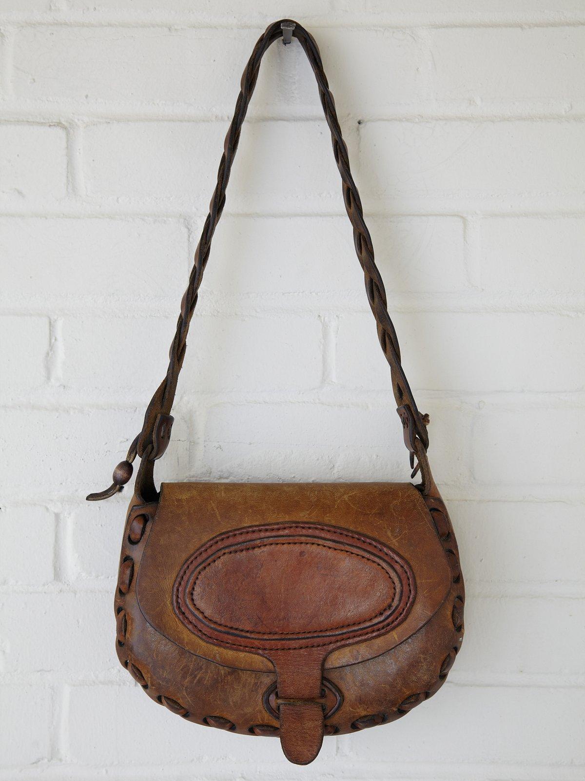 Vintage Oval Painted Boho Bag