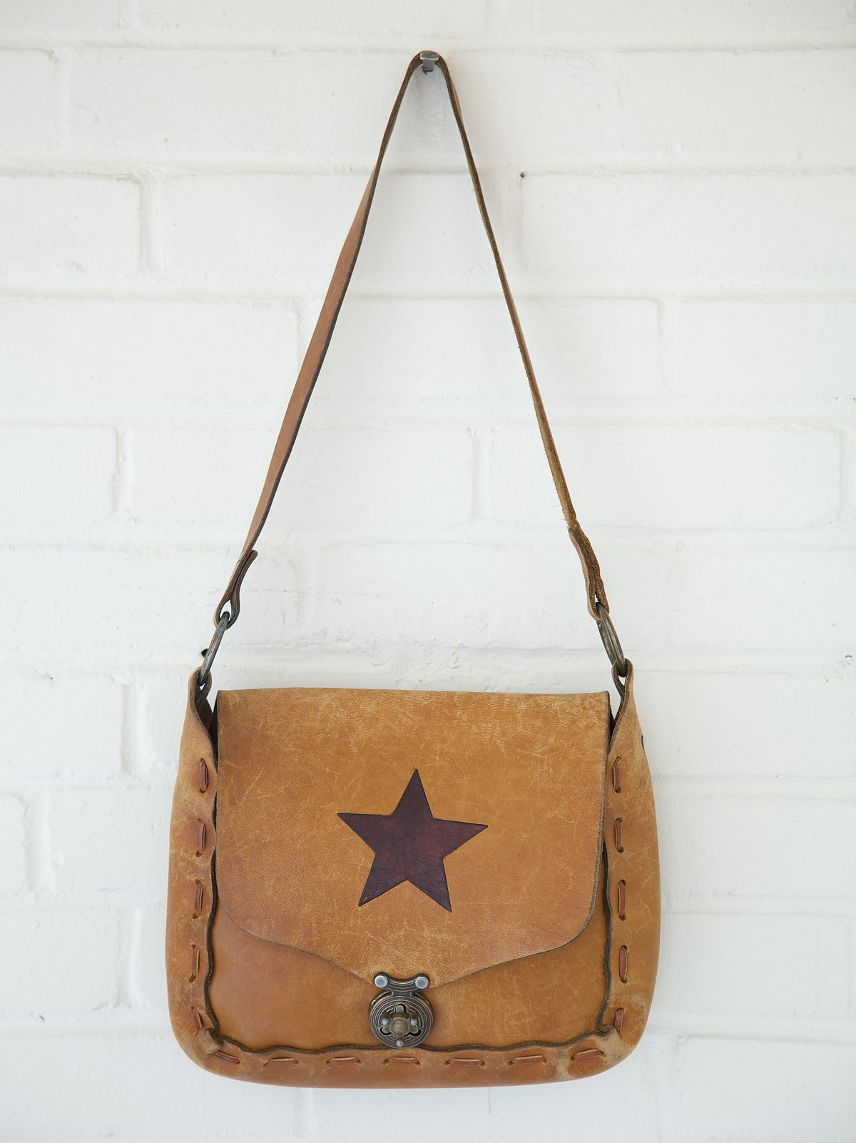 Vintage Star Painted Boho Bag