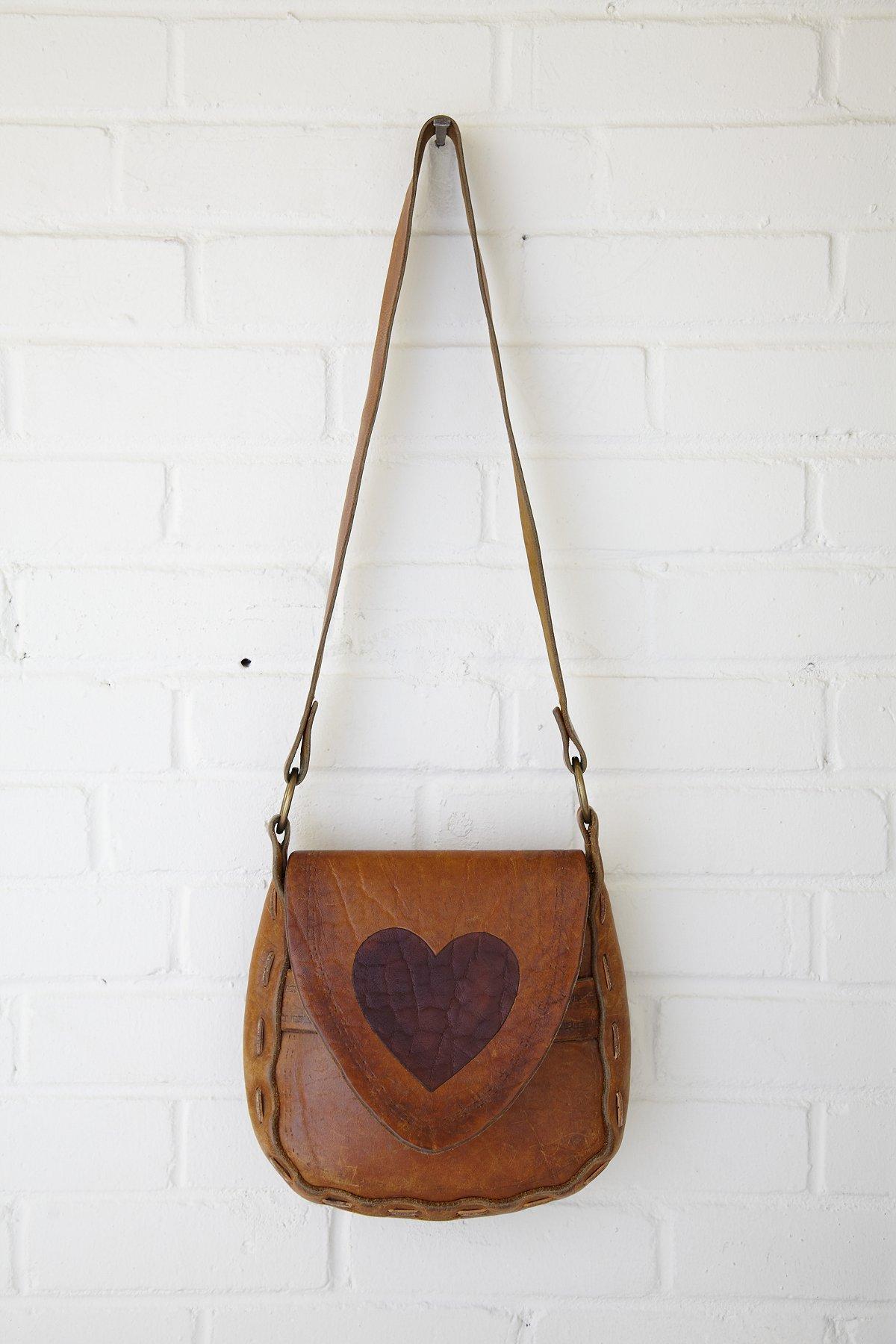 Vintage Heart Painted Boho Bag