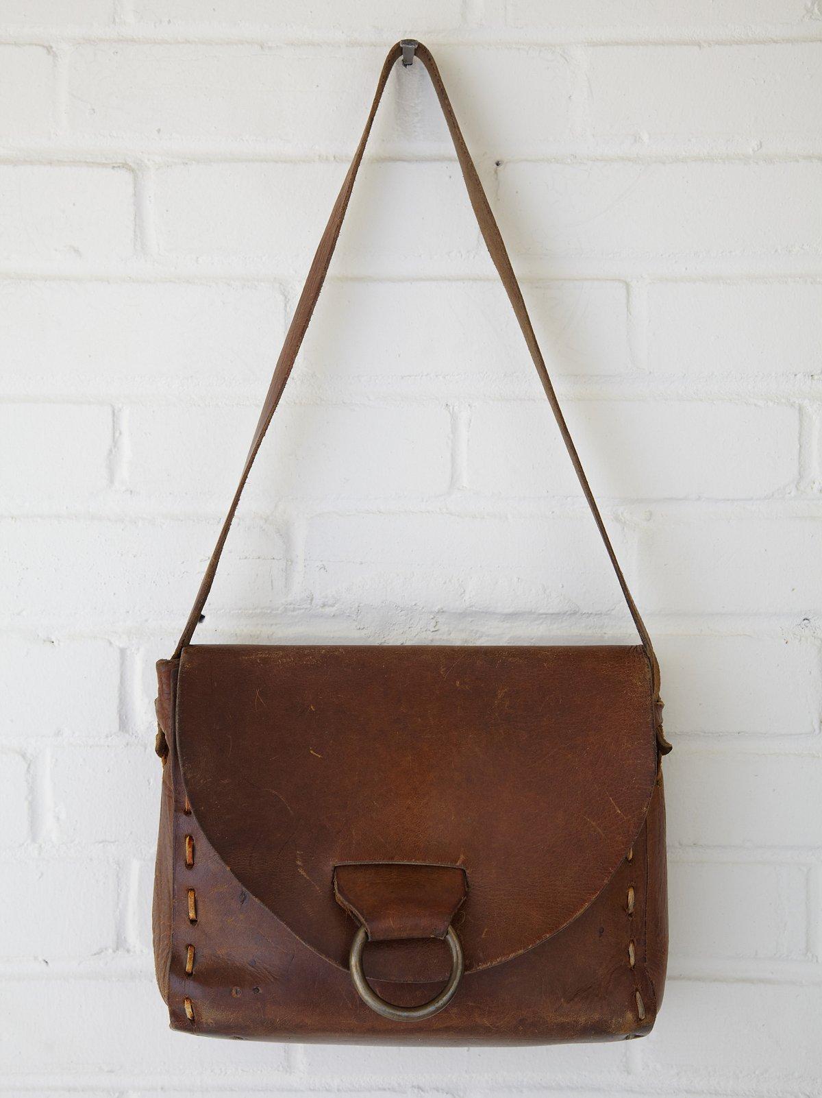 Vintage Rectangular Bull Ring Boho Bag
