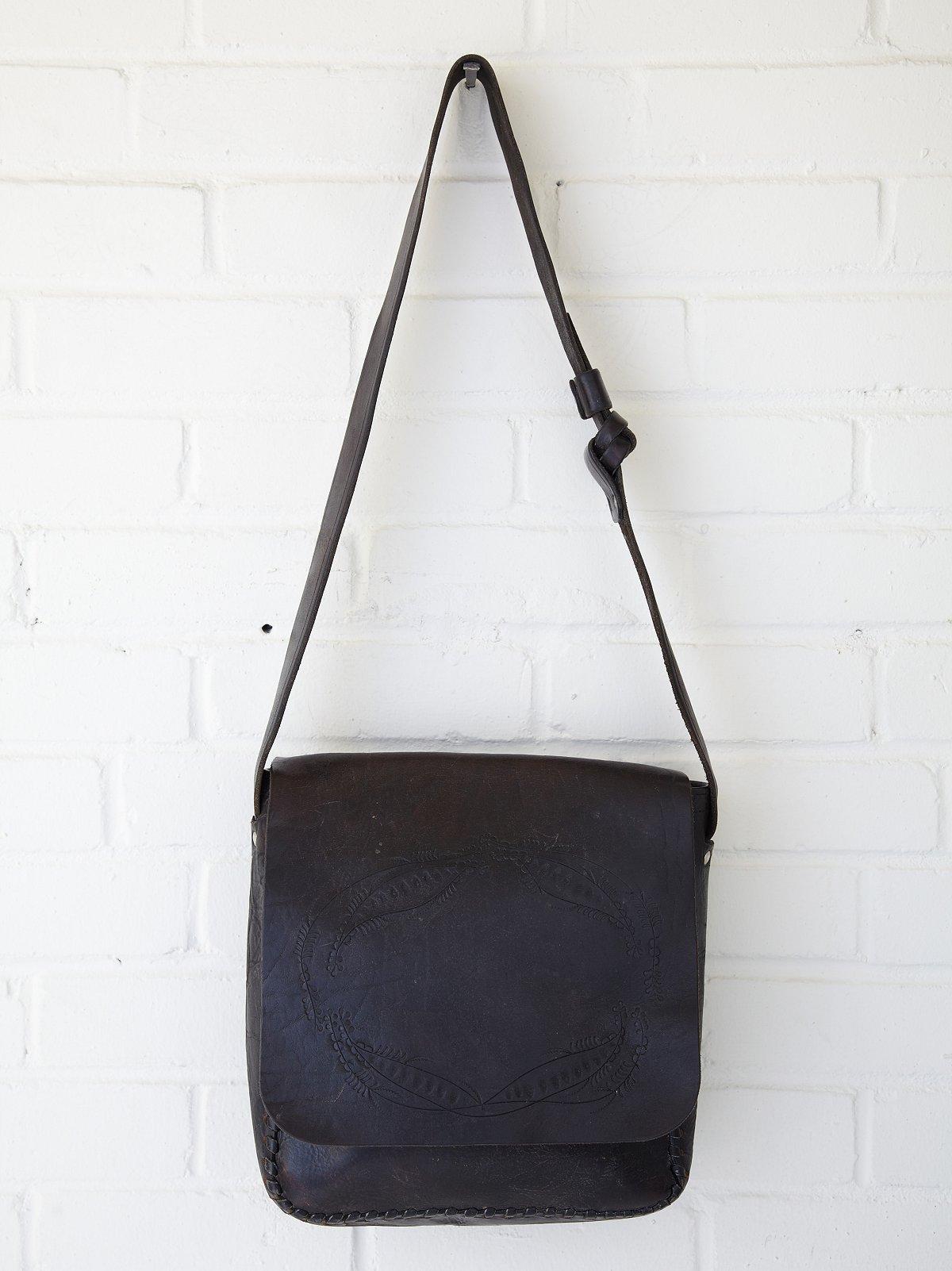 Vintage Embossed Crossbody Boho Bag