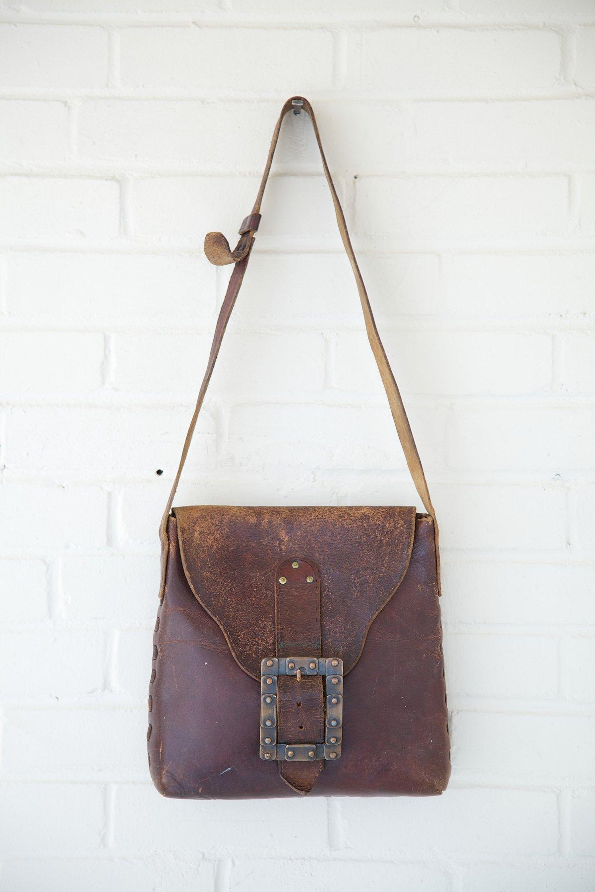 Vintage Squared Rectangle Buckle Boho Bag