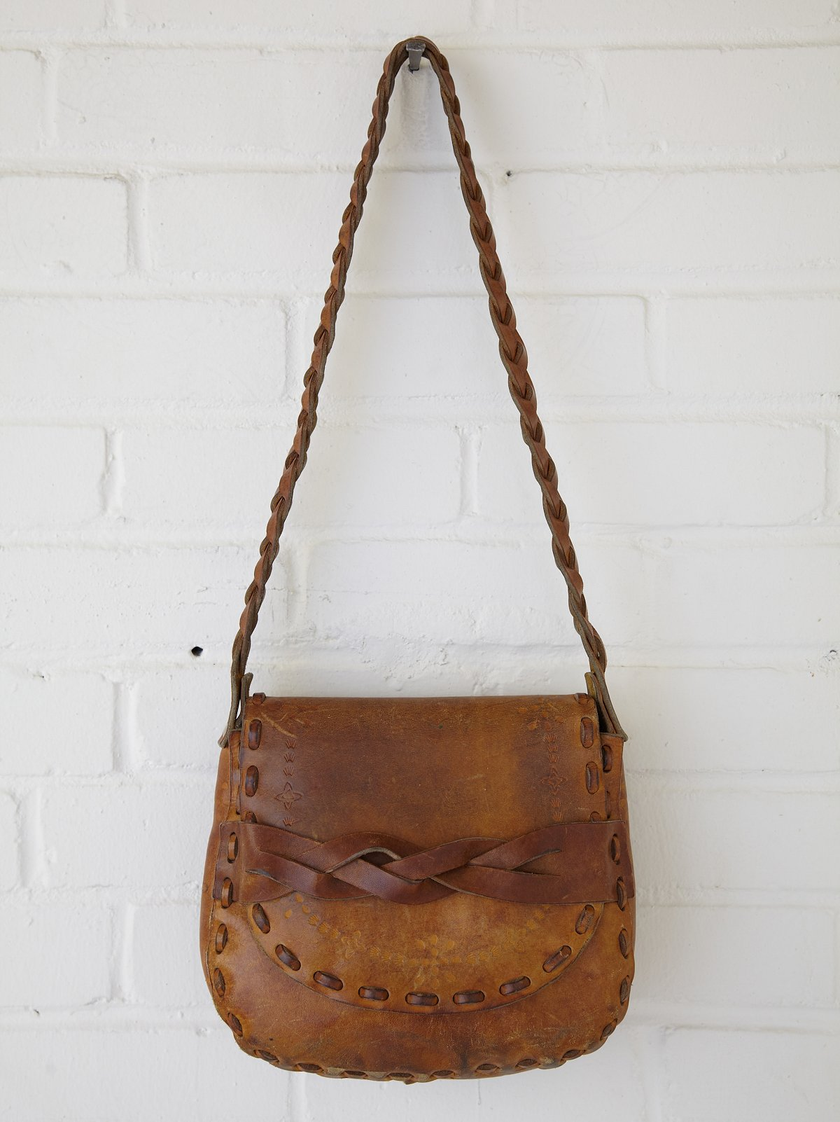 Vintage Large Braided Strap Boho Bag