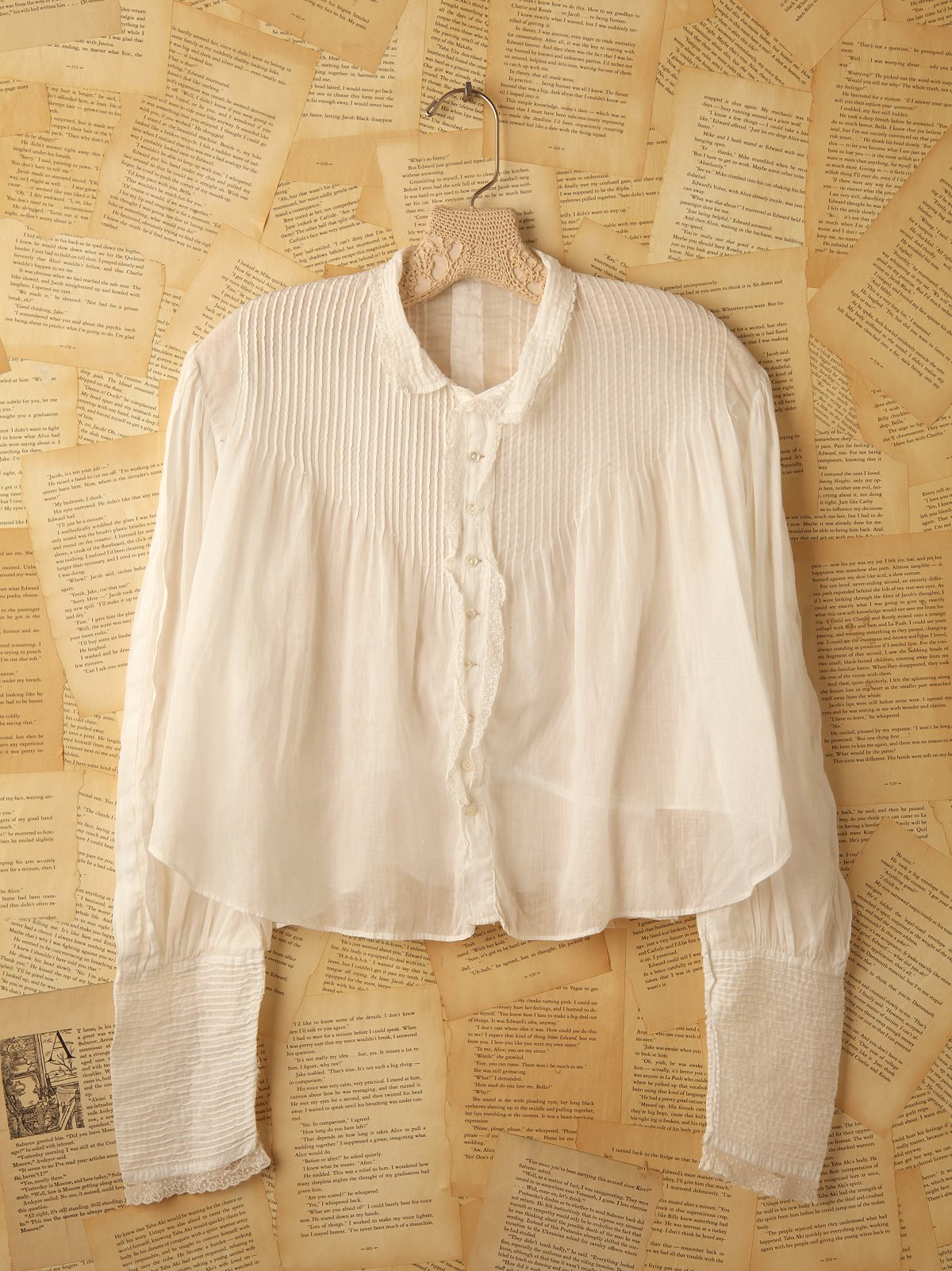 Vintage Pin Tucked Blouse