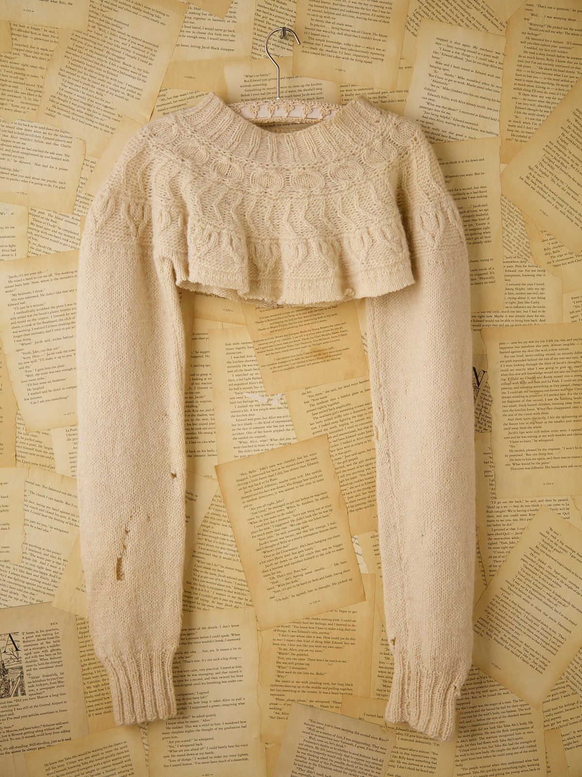 Vintage Hand Knit Sweater Half