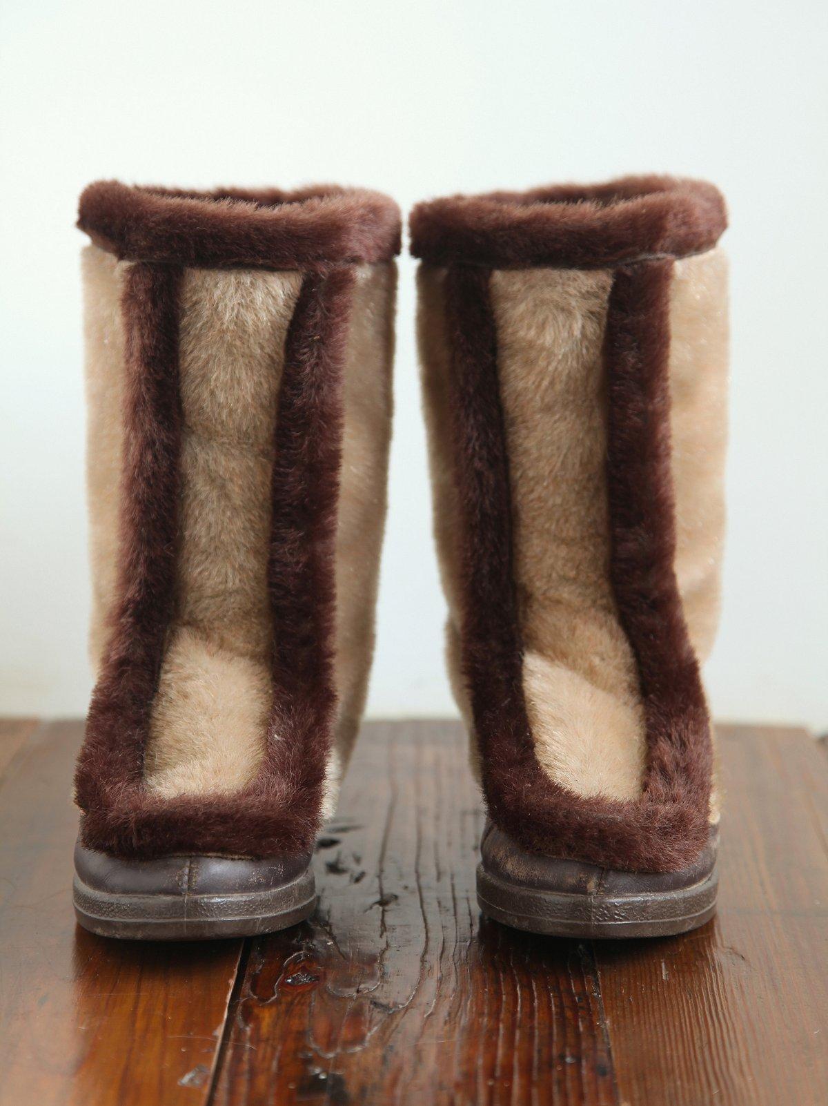 Vintage Faux Fur Winter Boots
