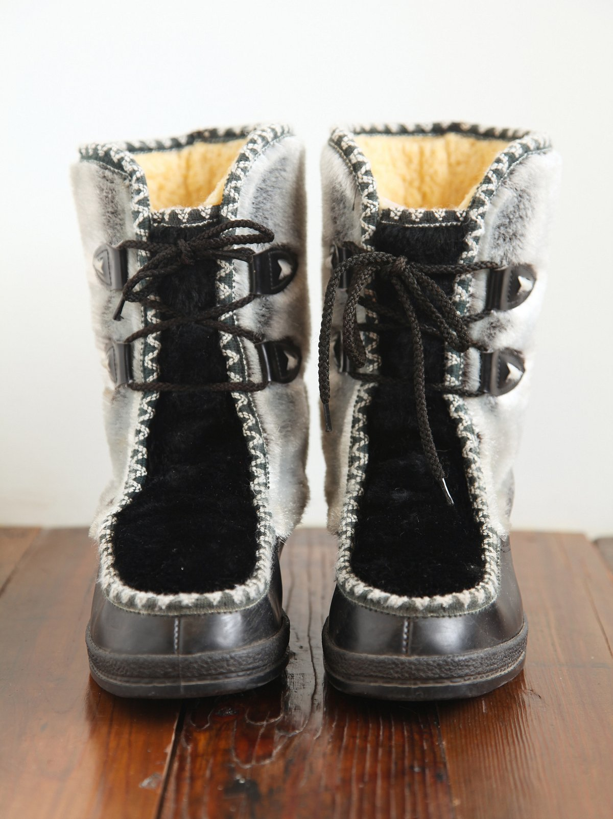 Vintage Faux Fur Winter Boots