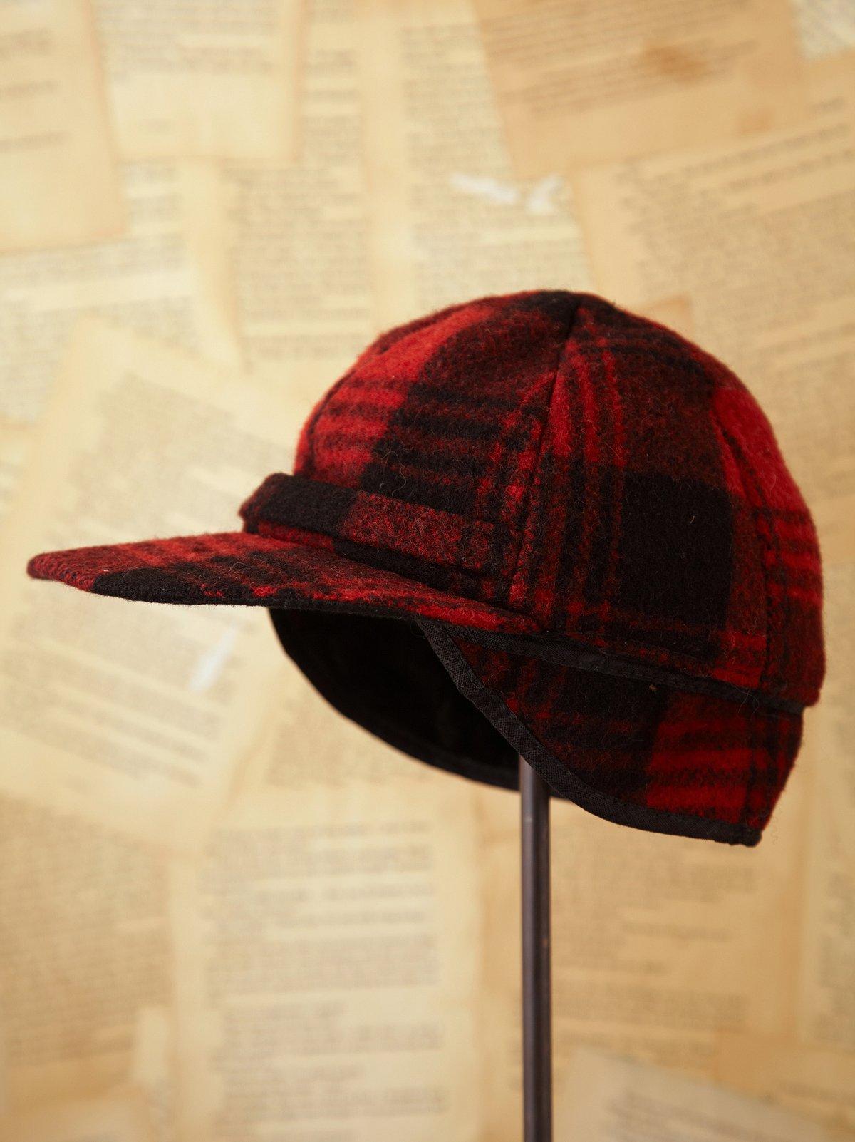 Vintage Red Plaid Hunting Hat