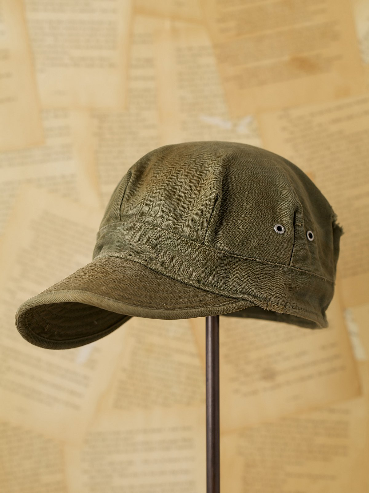 Vintage Green Military Hat