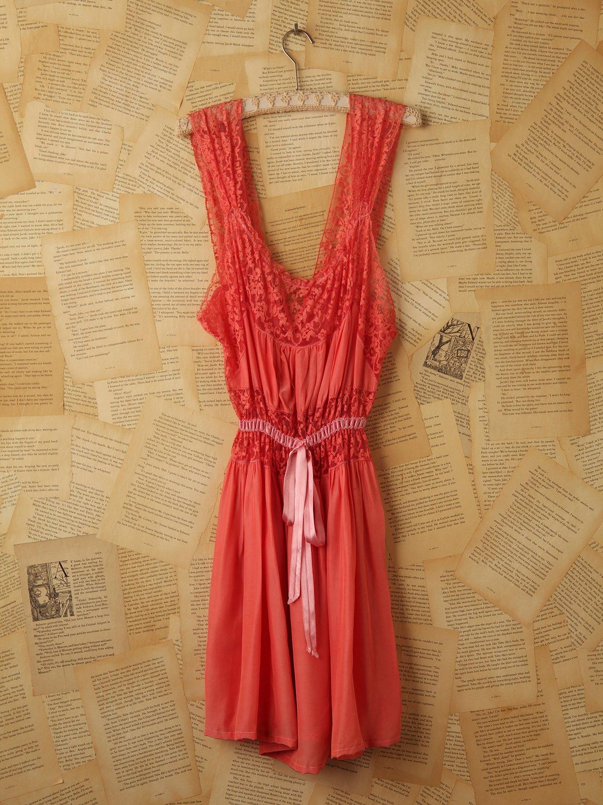 Vintage Pink Lace Slip Dress