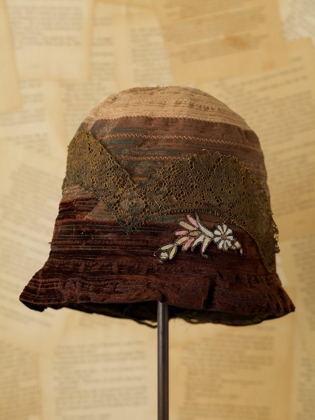Vintage Velvet Tear Drop Hat