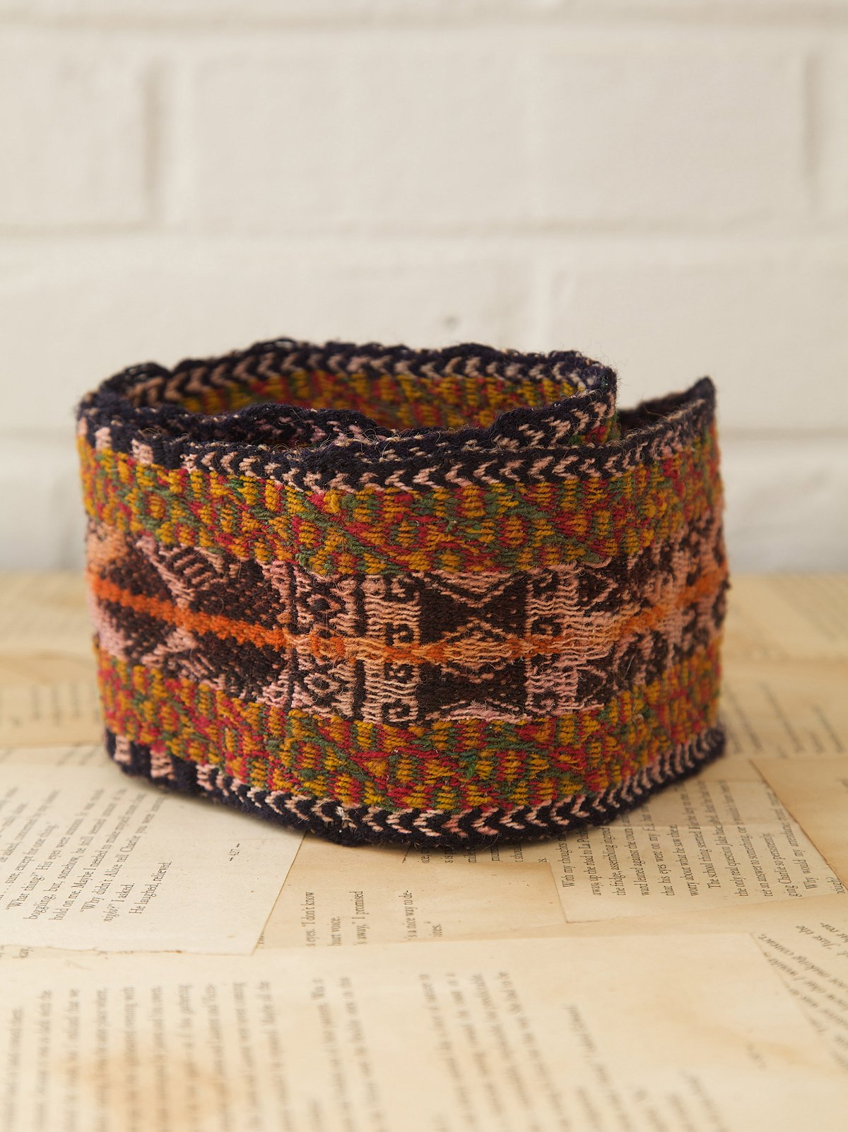Vintage Multicolor Wool Belt