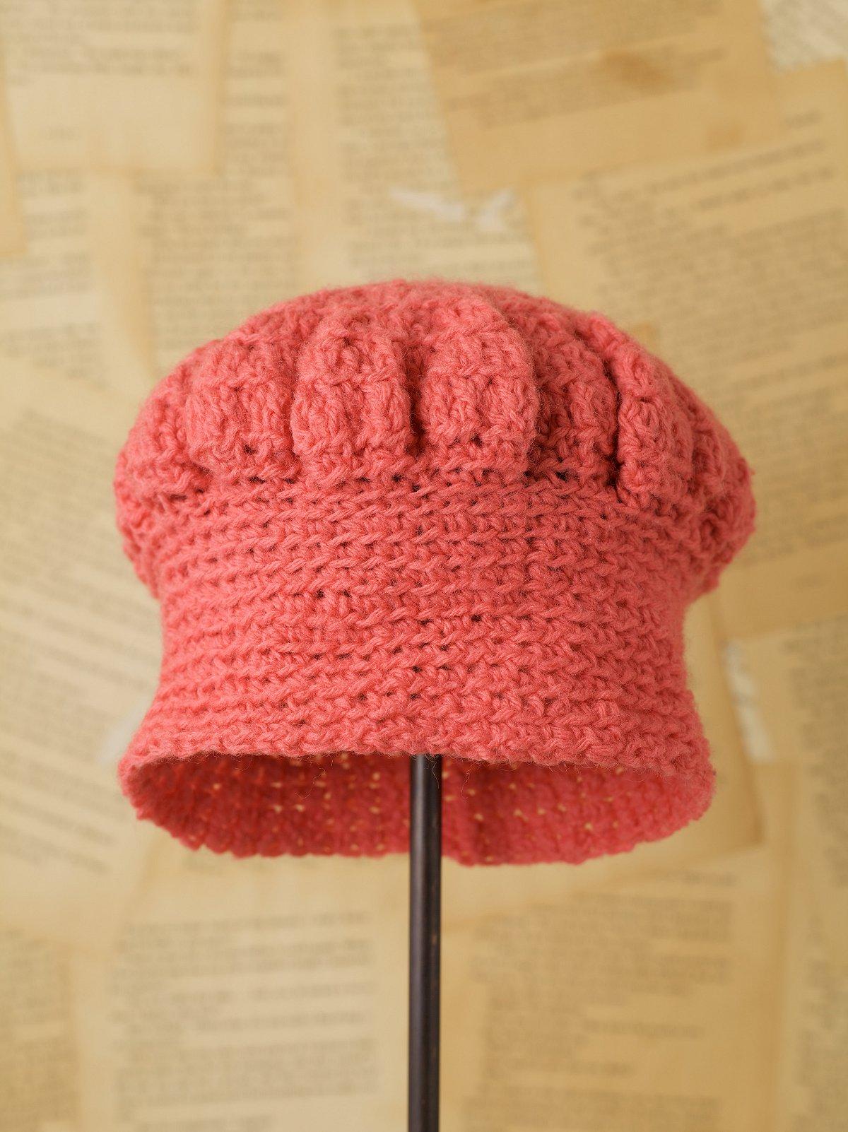 Vintage Pink Knit Hat