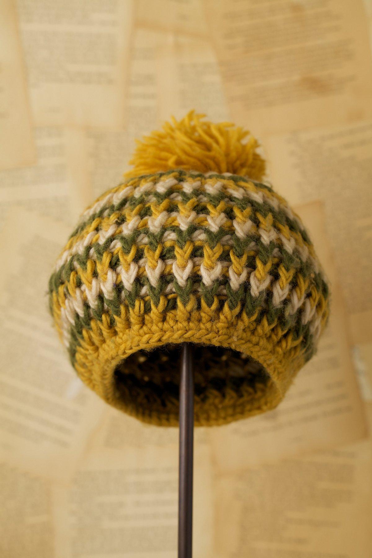 Vintage Knit Pom Beret